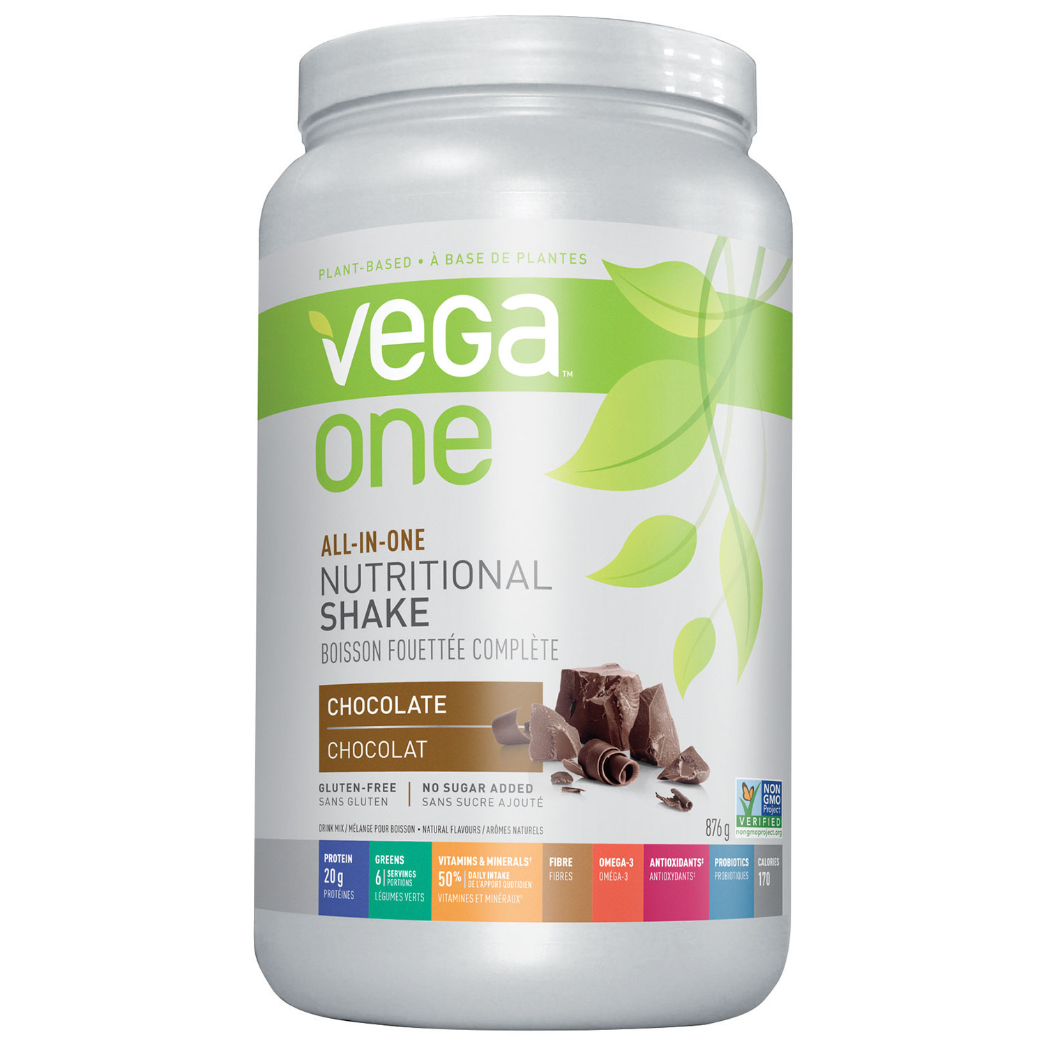 Vega One All-In-One Protein Powder - 876g (1.9 lbs) - Chocolate ...