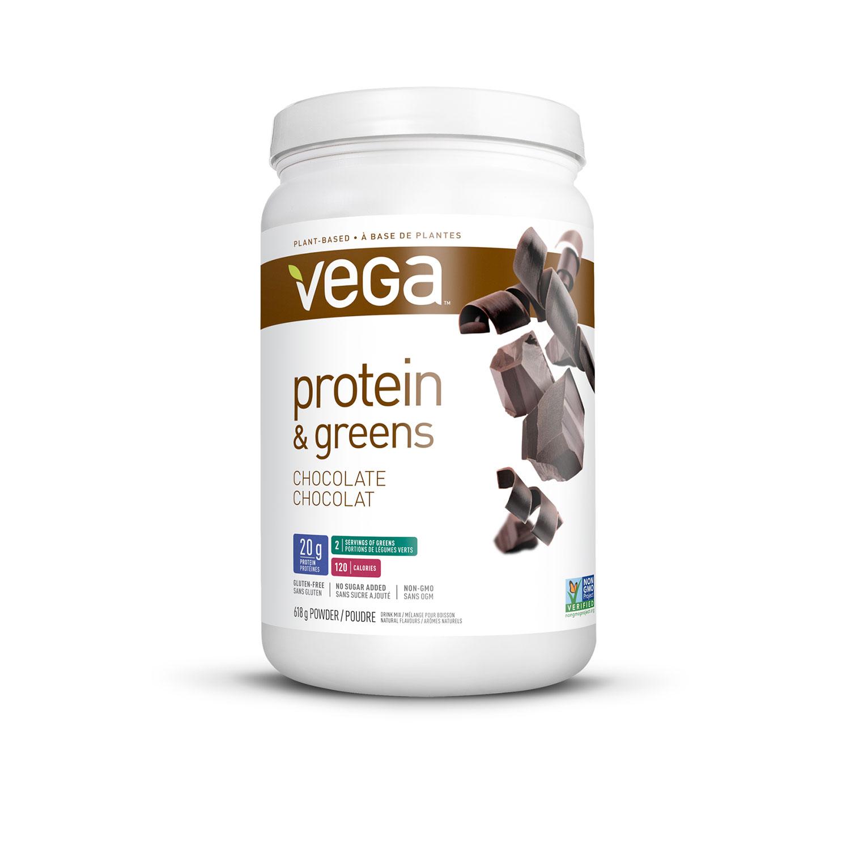 Vega Protein & Greens Protein Powder - 618g (1.4 lbs) - Chocolate ...