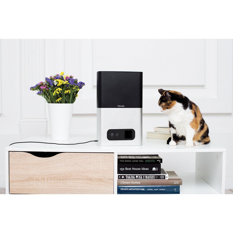 Caméra HD Wi-Fi interactive pour animaux Petcube Bites - Argenté mat