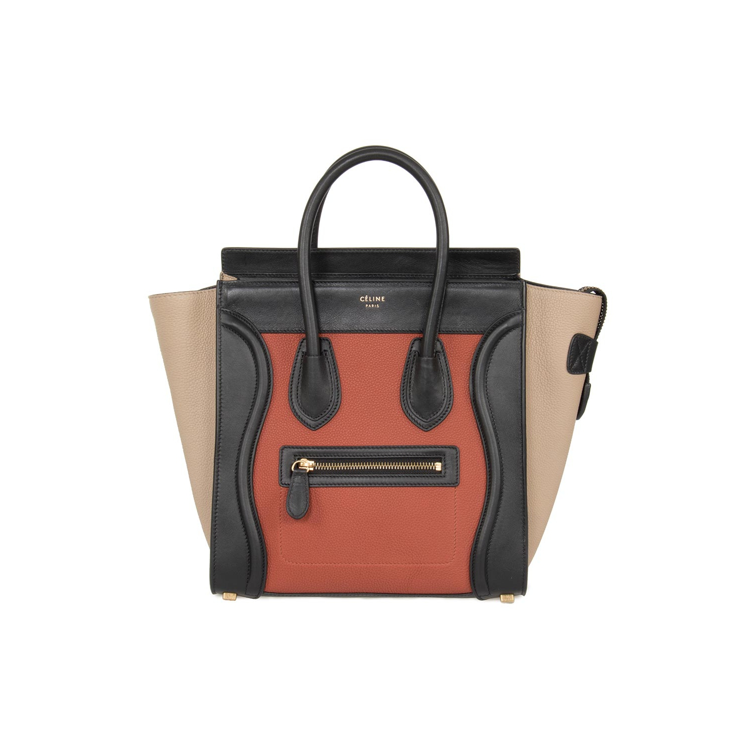 358d6a72aacb Celine Micro Luggage Leather Bag