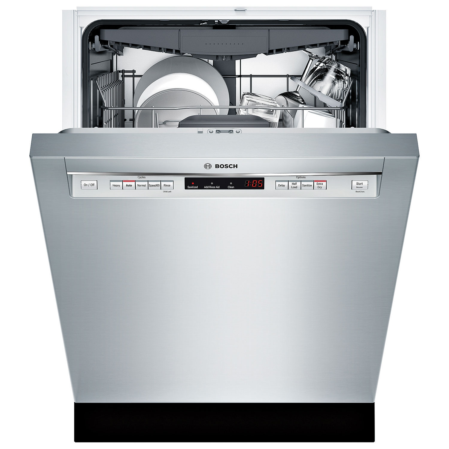 See Through Dishwasher Bosch 300 Series 24 44db Built In Dishwasher With Stainless Steel