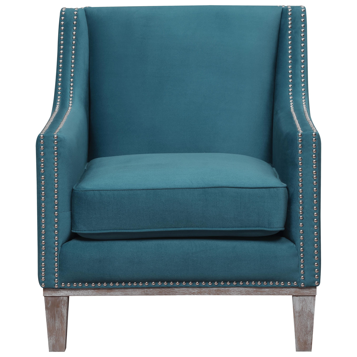 Teal Chair Augusta Transitional Polyester Accent Chair Teal Accent Chairs