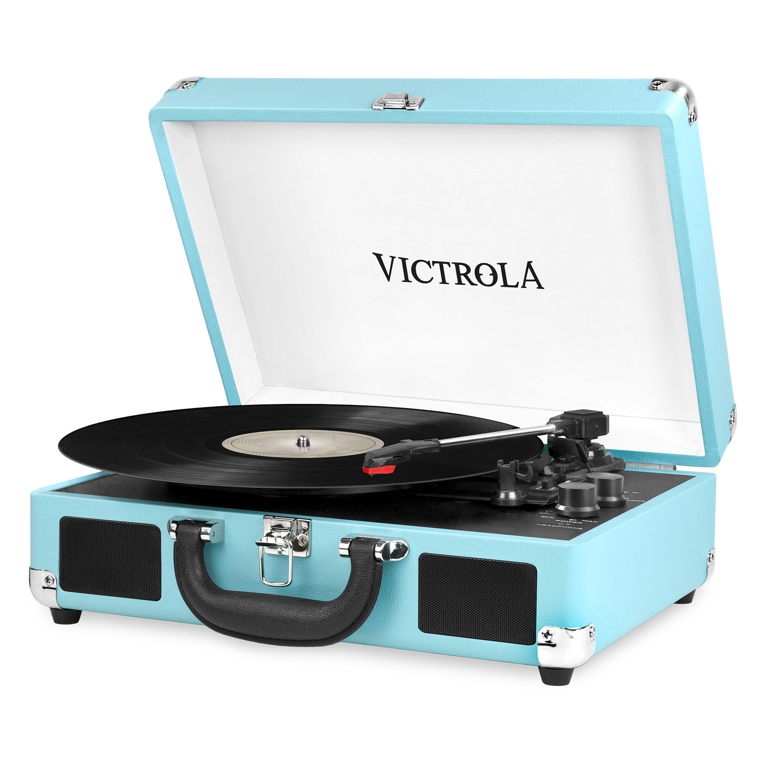 Record Players Turntables Usb Bluetooth More Best Buy Canada Magnetic Cartridge Preamplifier By Lt1028 Victrola 550bt Turntable Turquoise