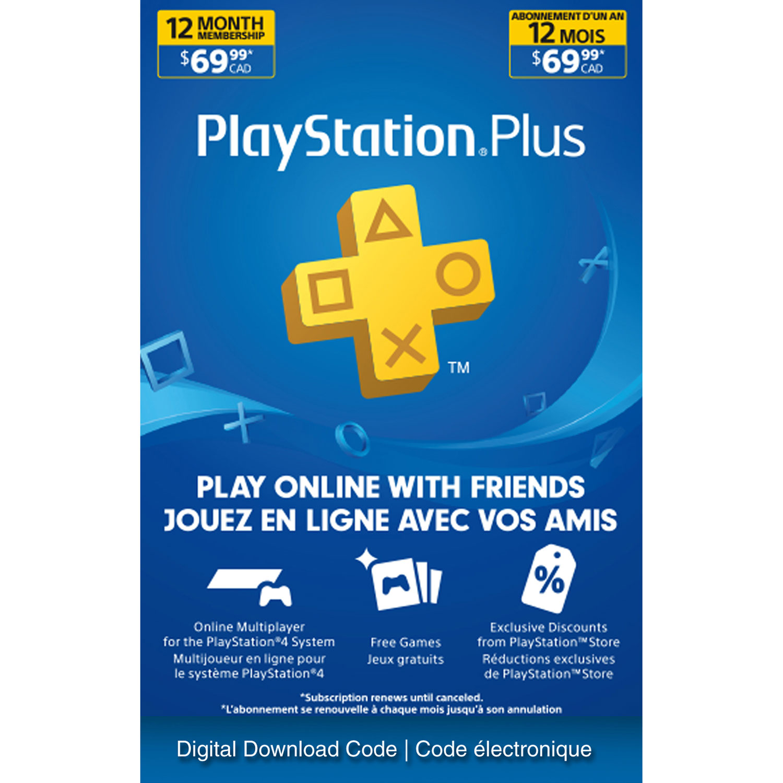 Playstation Plus 12 Month Membership Digital Download Best Buy Canada