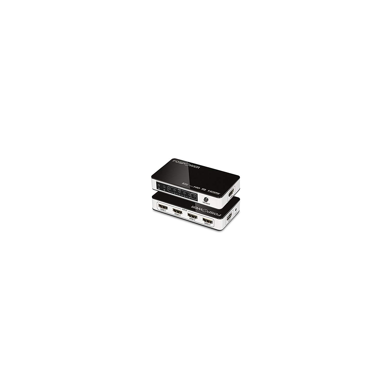 fospower hdmi  FosPower (5 Ports) 5x1 HDMI Switcher - Support Ultra HD 4K x 2K ...