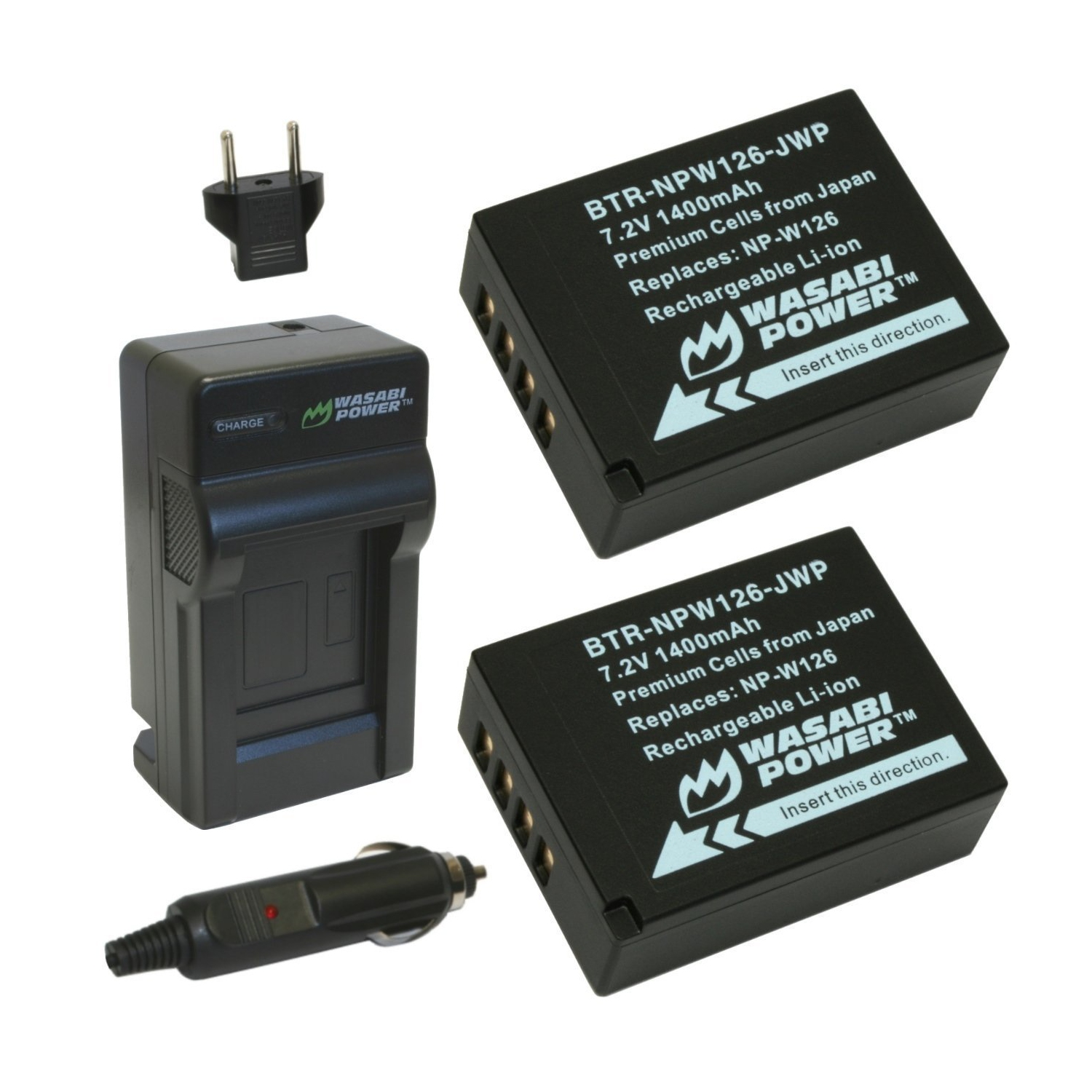 Wasabi Power Battery 2 Pack And Charger For Fujifilm Np W126 Fw50 Sony Fuji Finepix Hs30exr Hs33exr Hs50exr X A1 E1 E2 Camera Batteries Best Buy