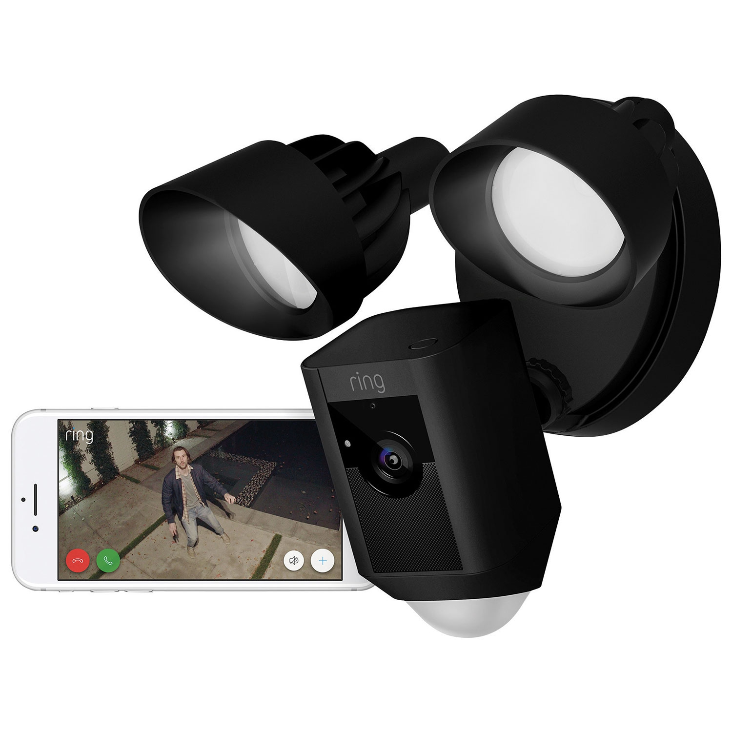 Ring Floodlight Cam Black Ip Cameras Best Buy Canada Hidden Wiring Inwall Cable Concealment Mississauga Toronto Oakville