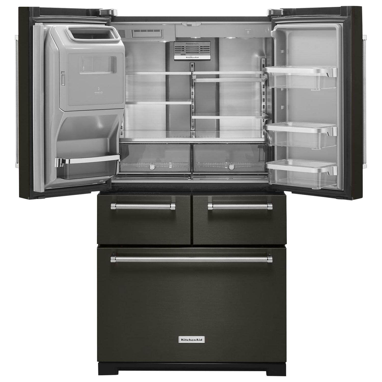 """KitchenAid 36"""" 25 8 Cu Ft 5 Door French Door Refrigerator"""