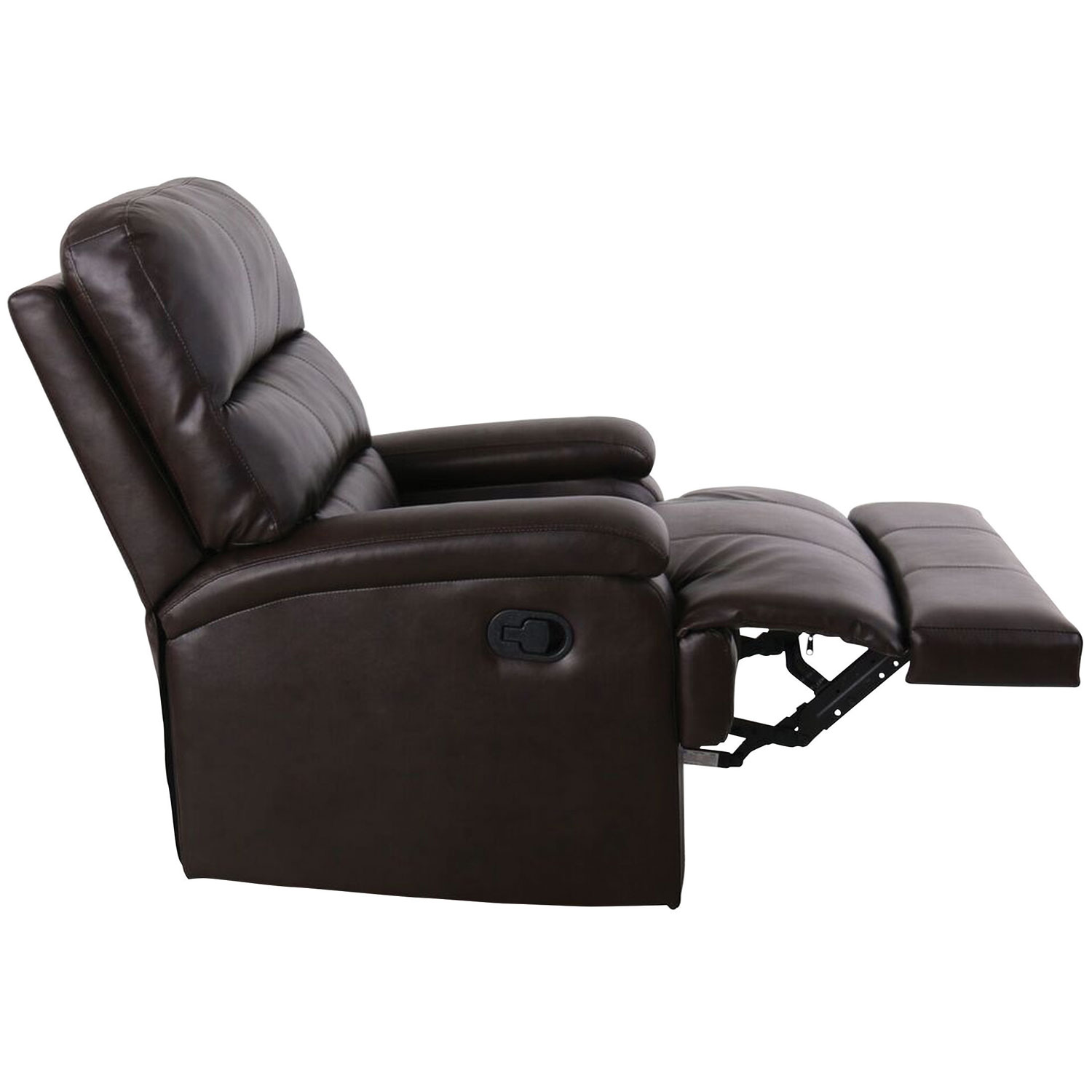 Joyce Traditional Faux Leather Recliner Chair Java Recliners