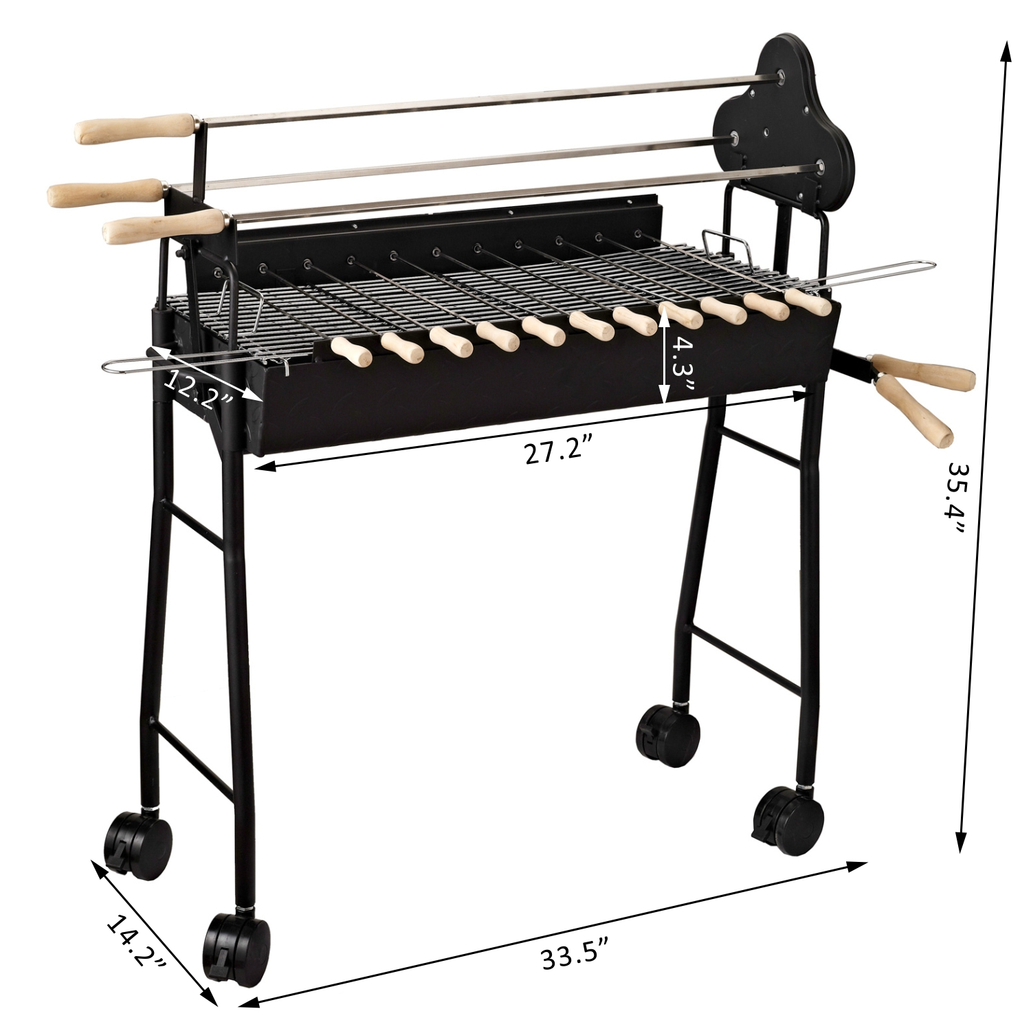 on bbq series steel grill wrotisserie rotisserie base natural aog in stainless with product pedestal gas grills t