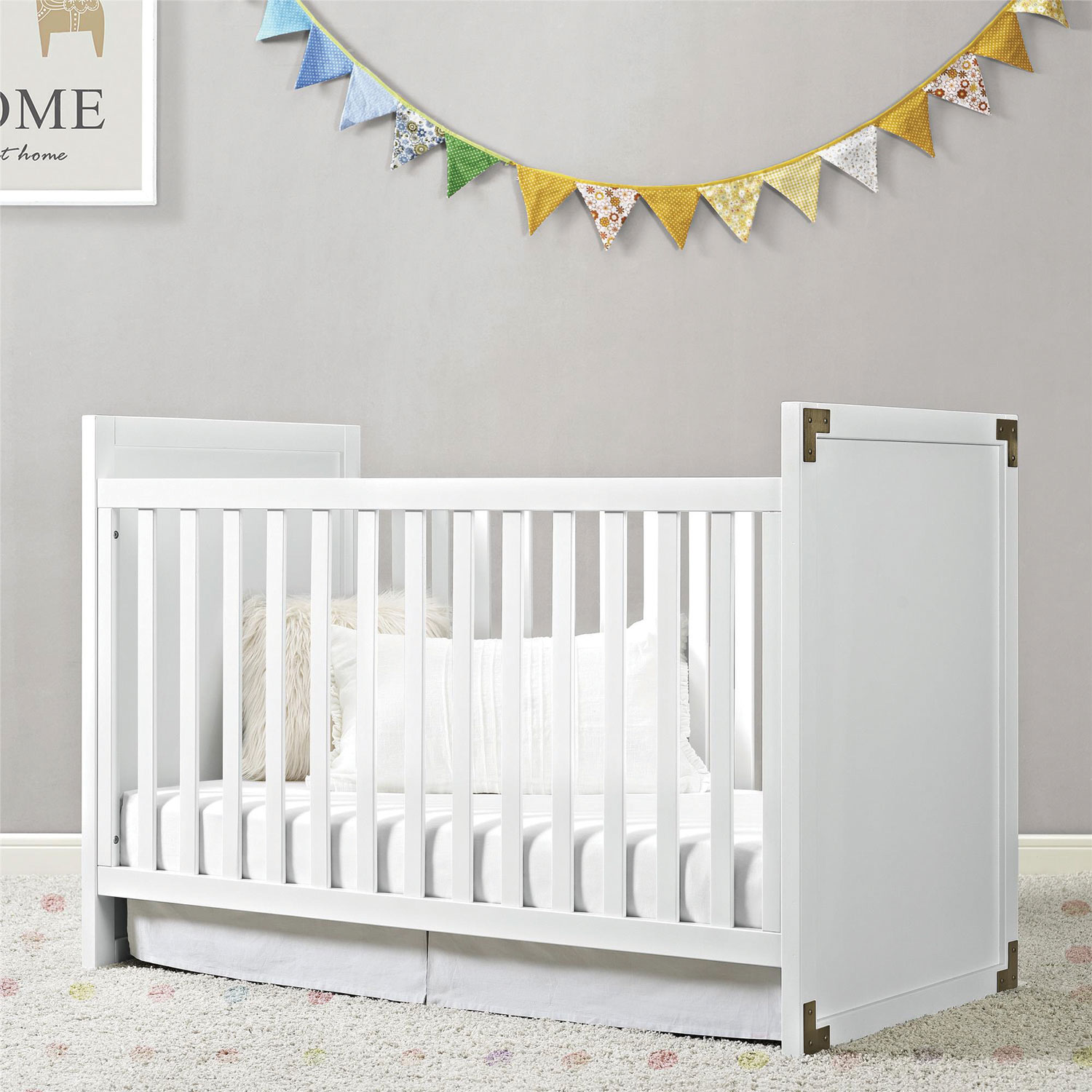 Used crib for sale edmonton - Baby Relax Miles 2 In 1 Convertible Wood Crib White