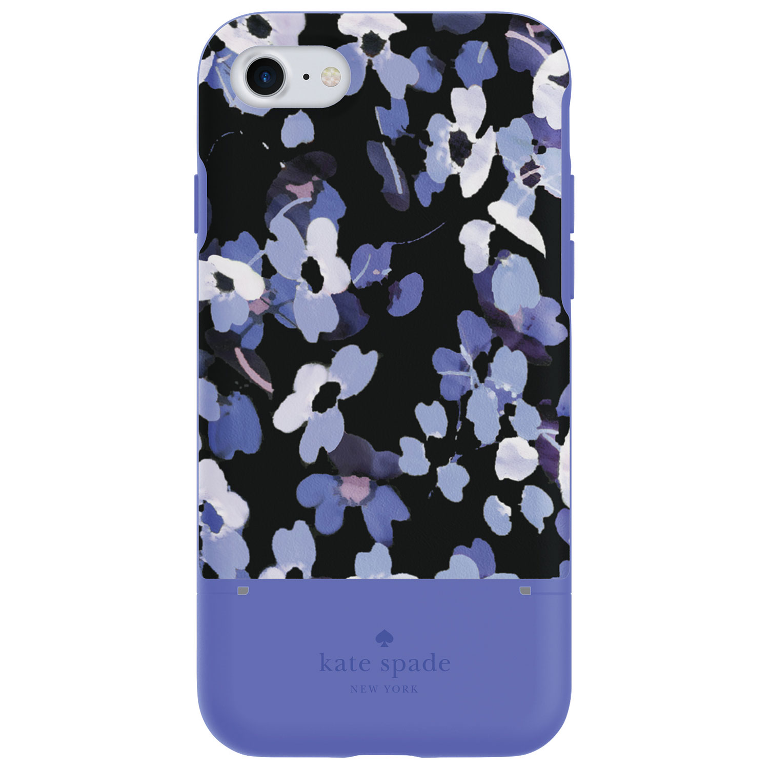 Kate Spade New York Fitted Hard Shell Credit Card Case For Iphone 7   Hydrangea Blue Available Online Only