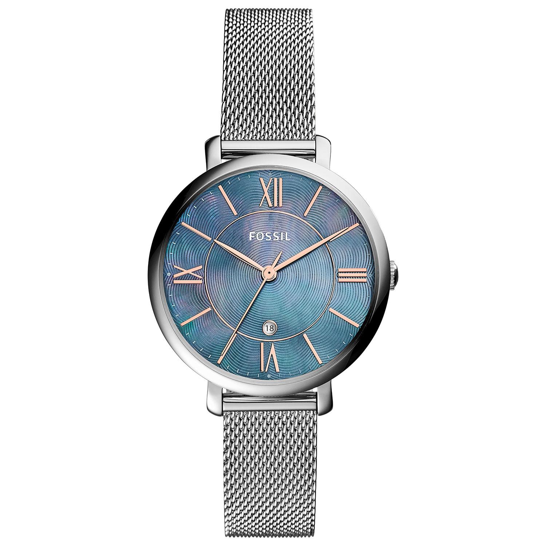 Fossil Jacqueline 36mm Women\'s Analog Dress Watch - Silver/Blue ...