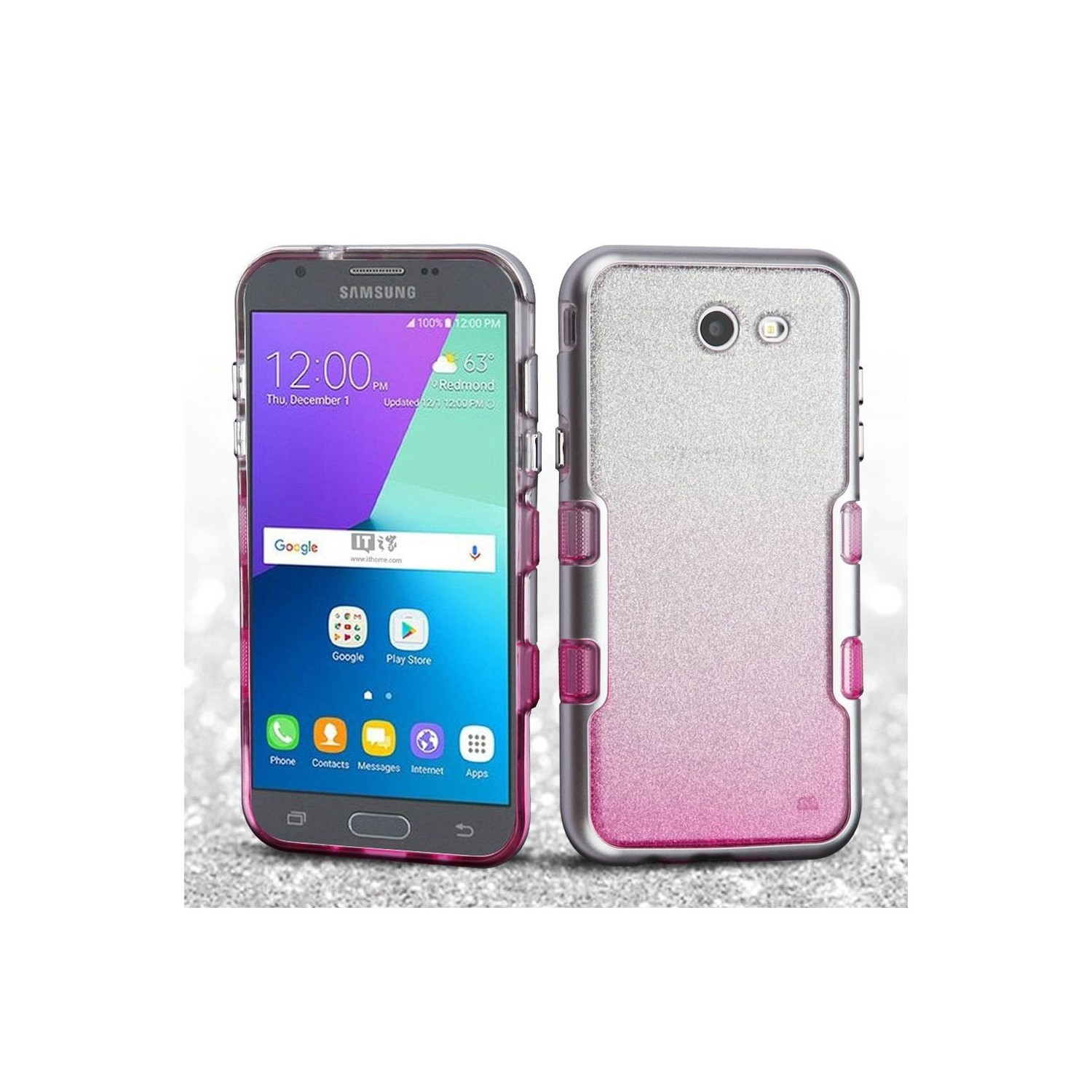 Insten Tuff Hard Case For Samsung Galaxy Amp Prime 2 Express Prime 2 J3 2017 J3 Emerge Silver Other Samsung Cases Best Buy Canada