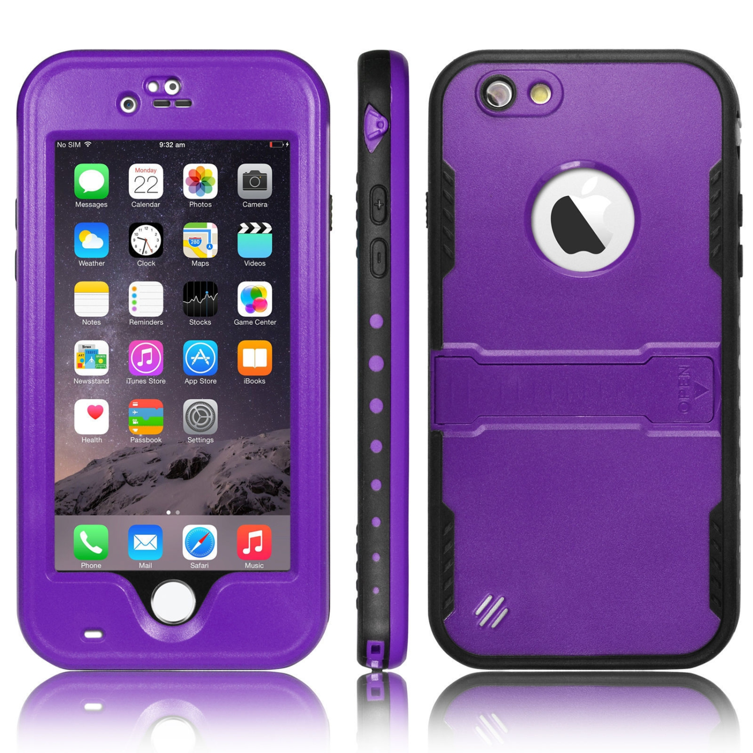 Esource Parts Fitted Hard Shell Case for iPhone 6 Plus - Purple - Online  Only ea9c31973