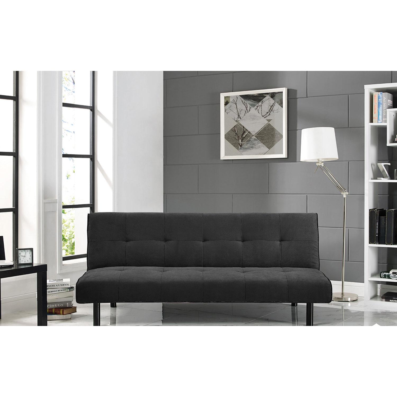Xavier Modern Micro Suede Futon Double Black Futons & Sofa