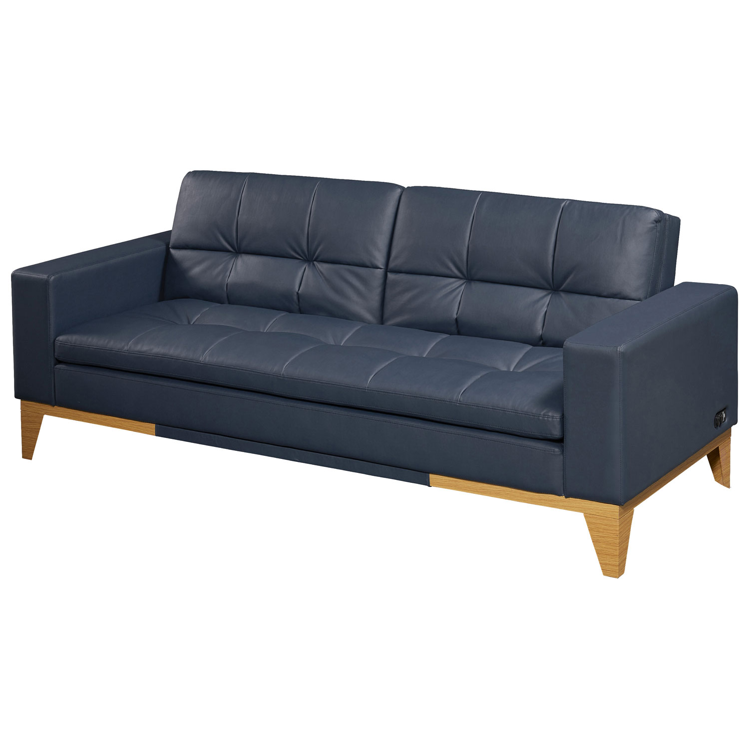 Wesley Modern Faux Leather Futon  Double  Navy Futons