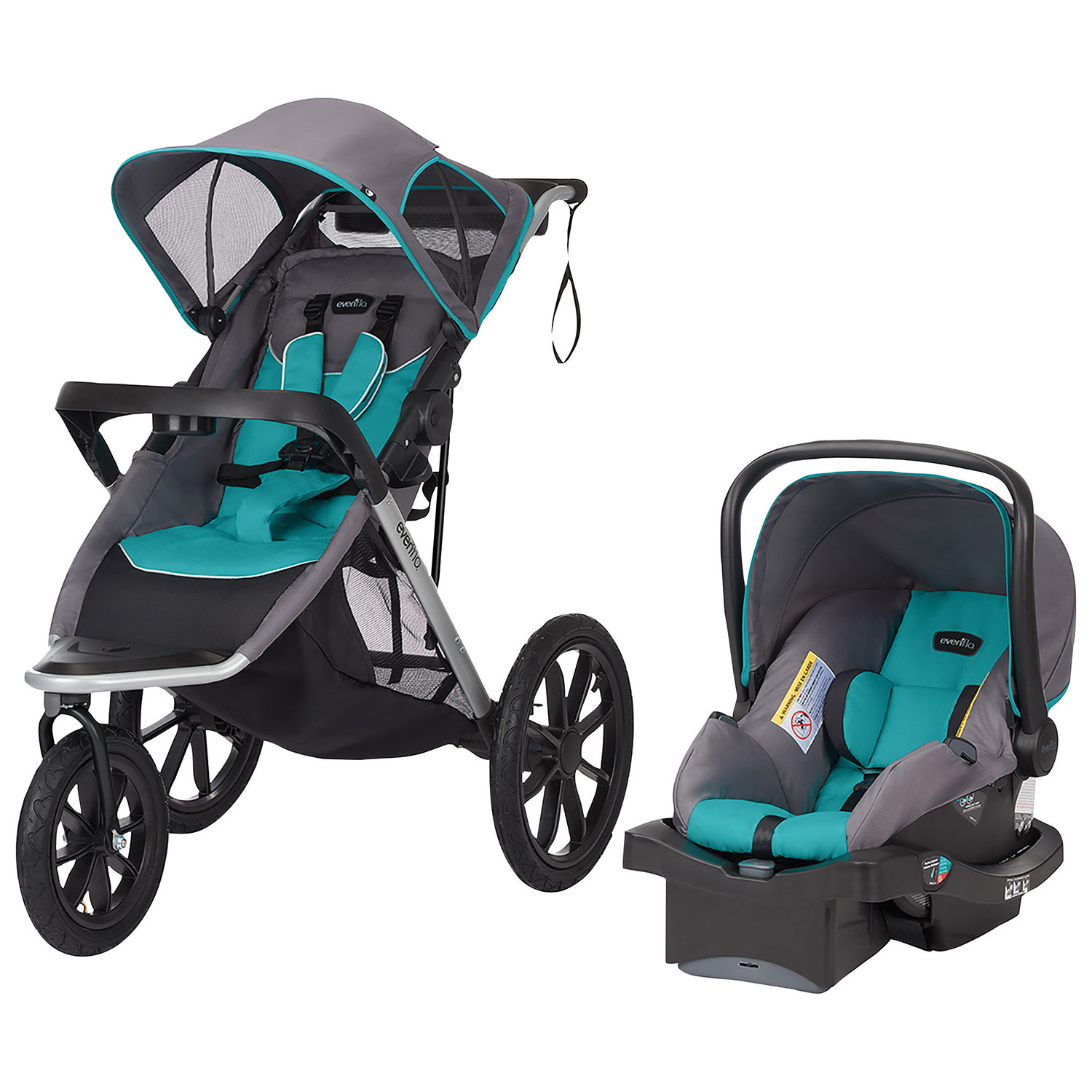 evenflo victory plus jogging stroller with litemax infant car seat  - evenflo victory plus jogging stroller with litemax infant car seat blackblue  baby travel systems  best buy canada