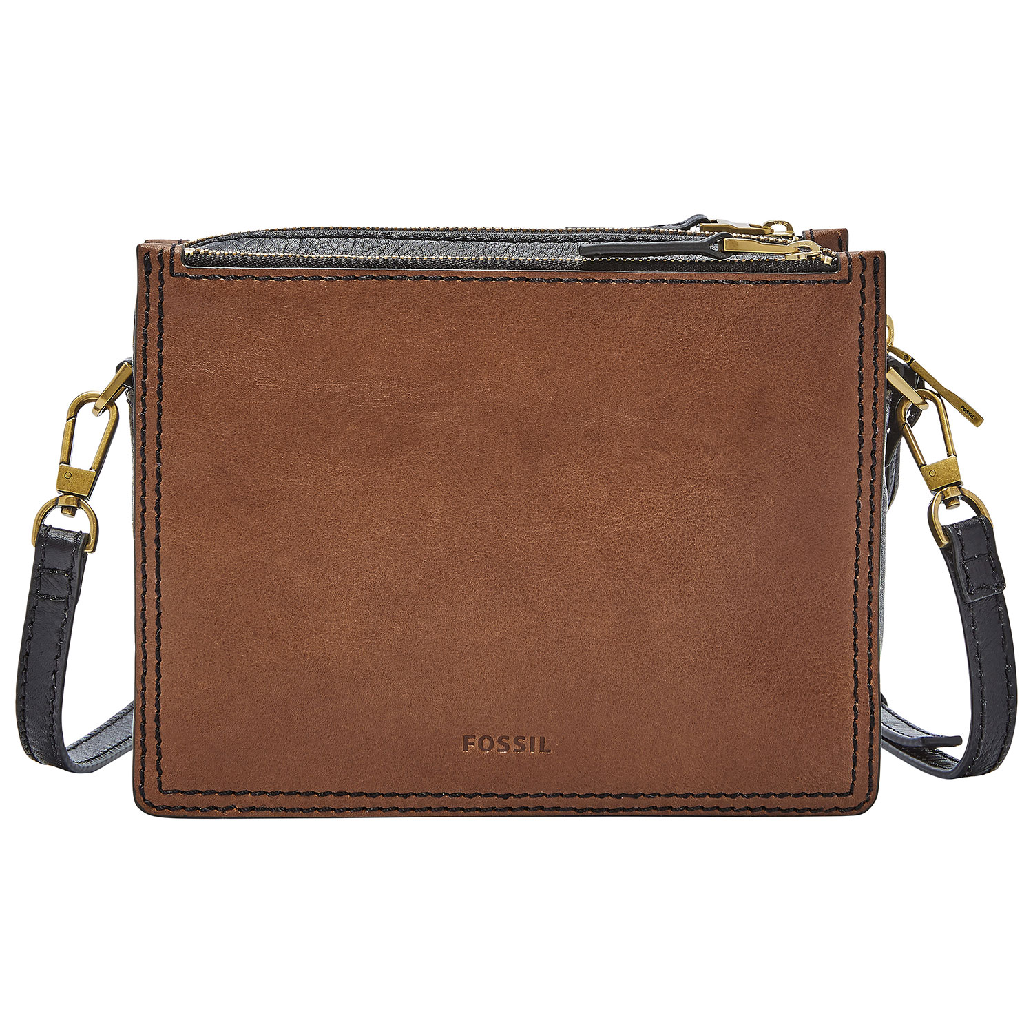 Fossil Campbell Leather Crossbody Bag - Brown   Crossbody Bags ... 5c1ae62ad8
