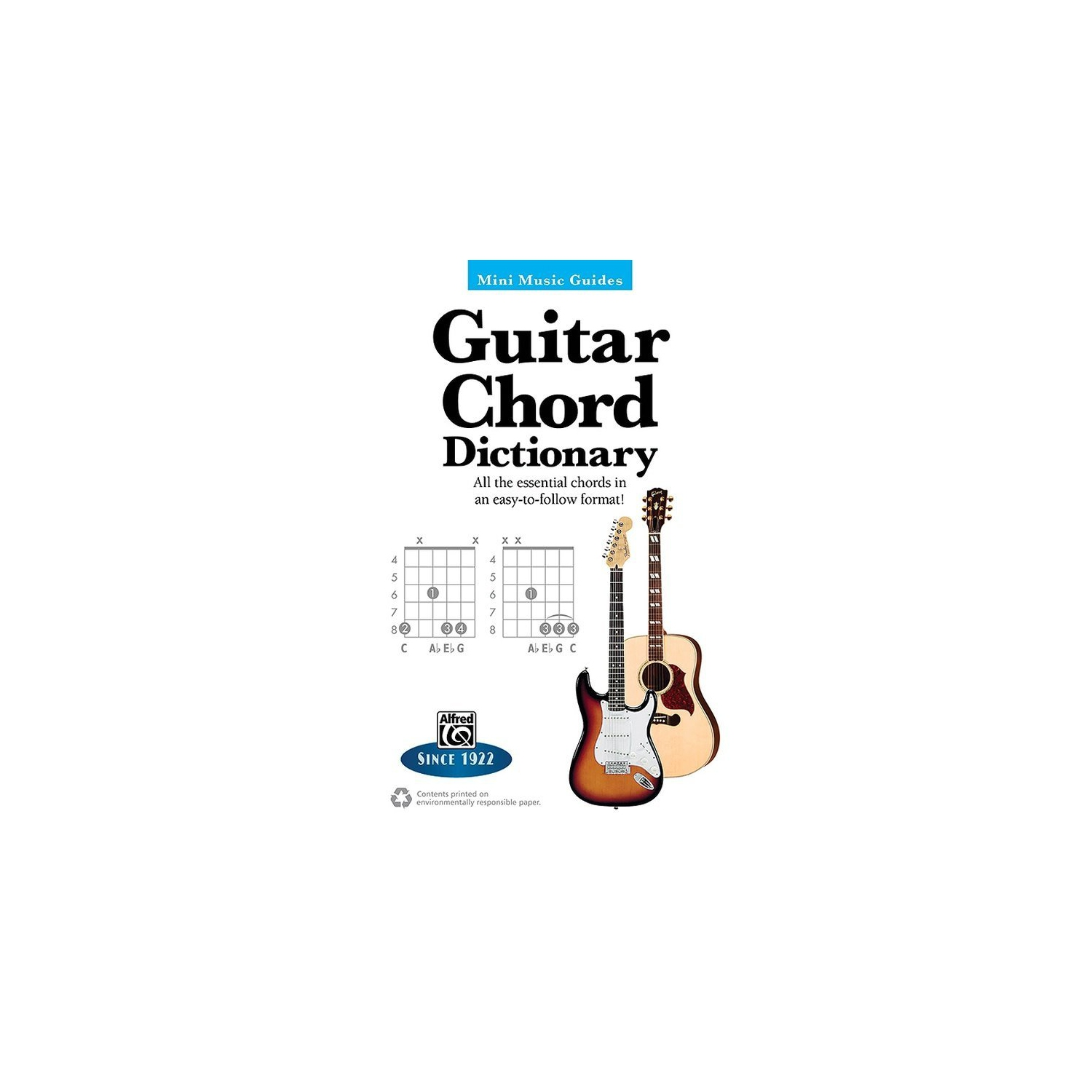 Alfred 00 33501 Mmg Guitar Chord Dictionary 5x7 Sheet Music