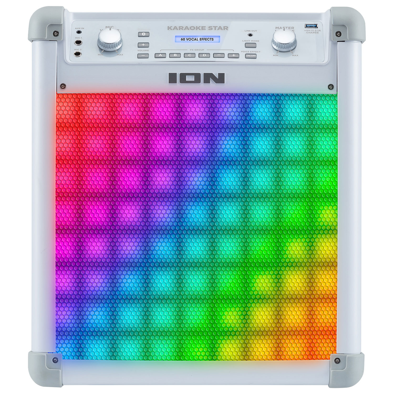 ION Karaoke Star Karaoke Machine with Lights iPK2 White