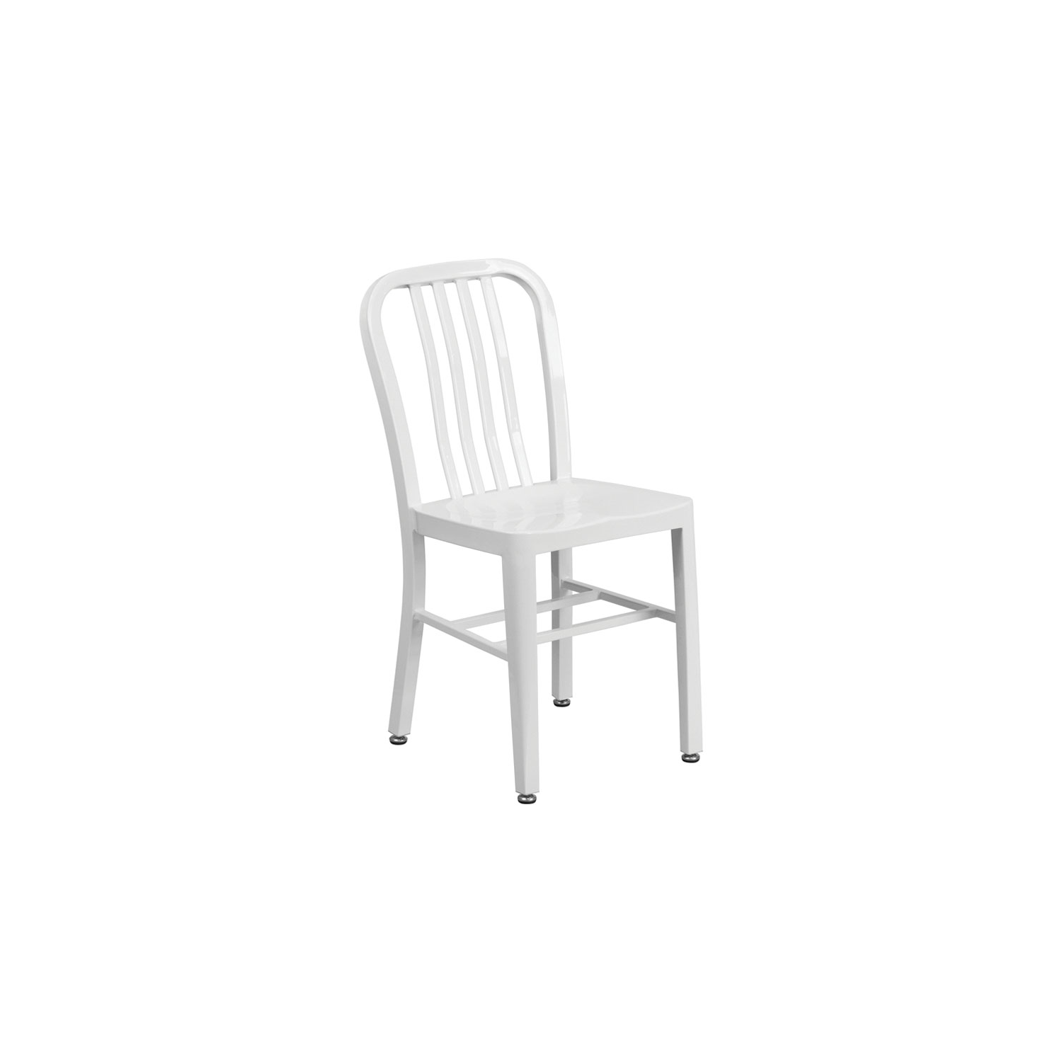 Flash furniture metal indoor outdoor stool chair white online only