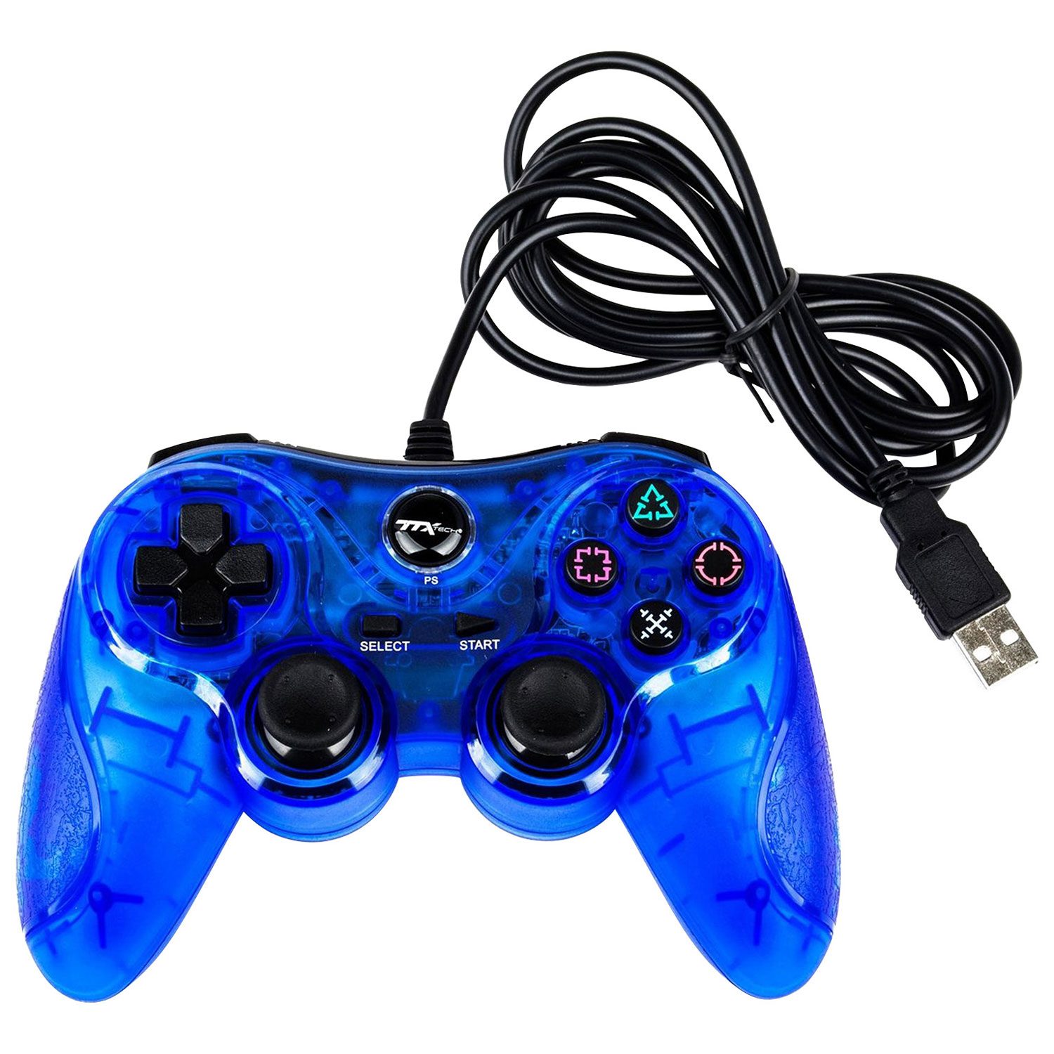 Ps3 controller universal wired dual shock wireless best buy canada ttx tech usb controller for ps3pc blue publicscrutiny Image collections