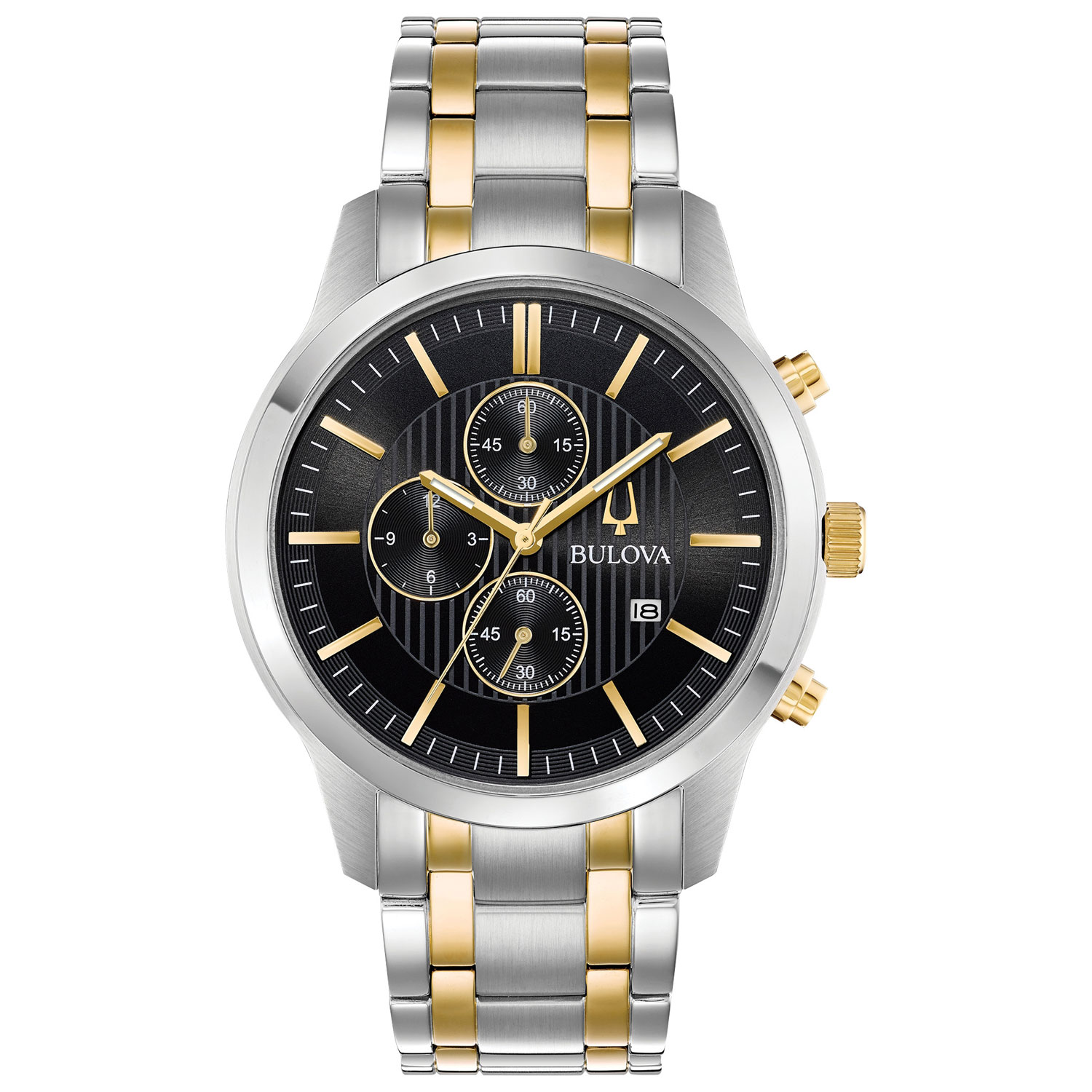 en ca gold buy black analog mens watch dress chronograph men watches more silver s sports best bulova canada category
