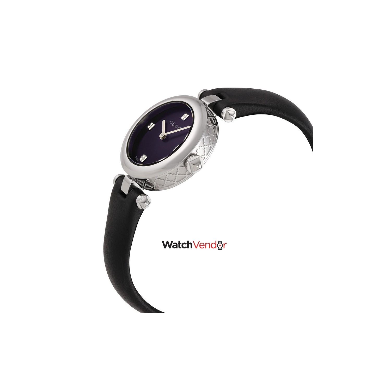 27fc75480e9 Gucci Diamantissima Black Dial Leather Ladies Watch YA141506   Women s  Watches - Best Buy Canada