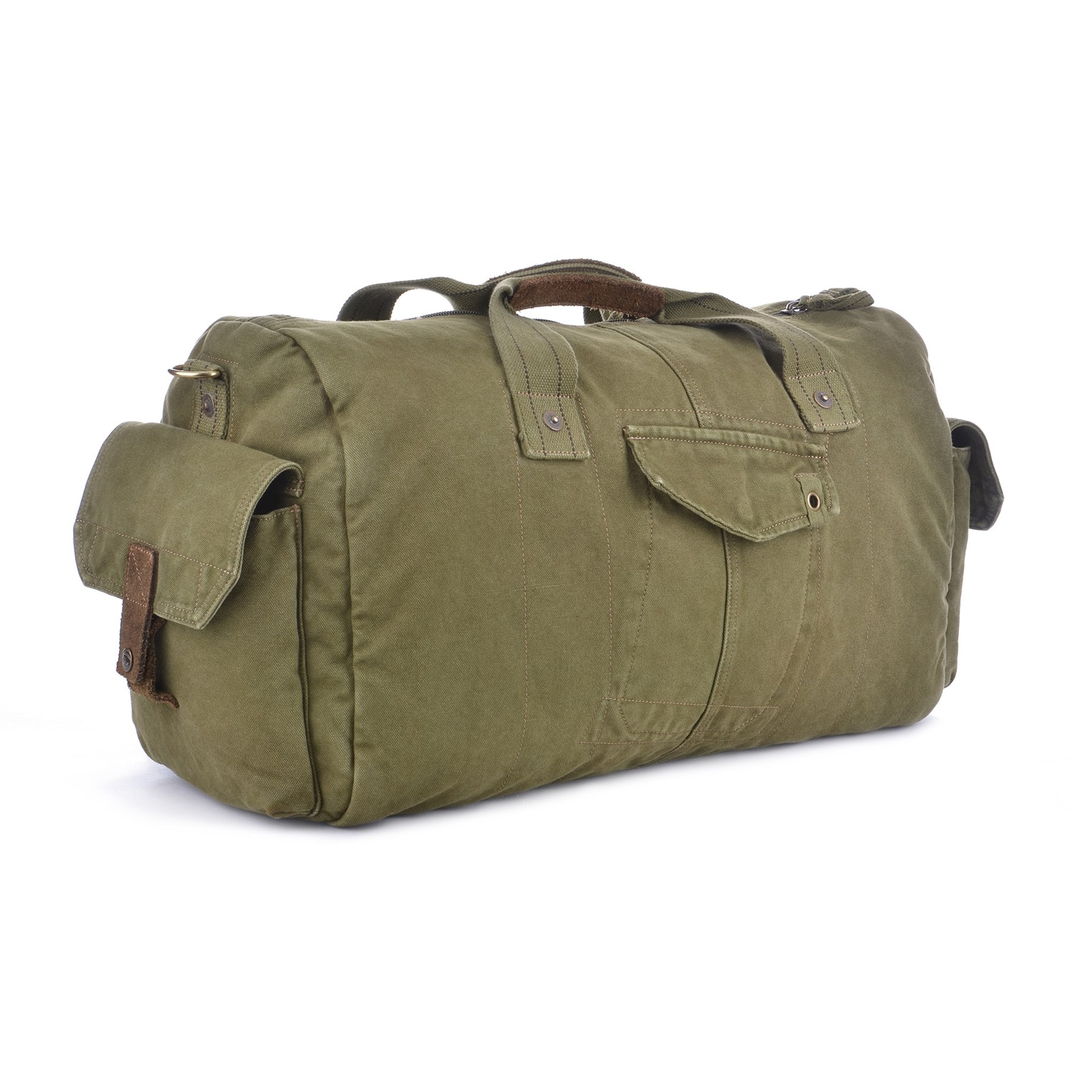 Gootium Vintage Canvas Duffle Bag Travel Tote Weekend Holdall Sports Gym Bag