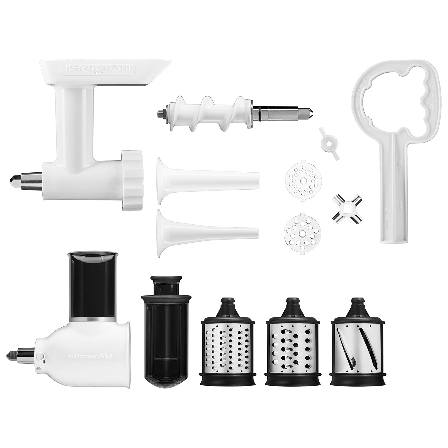 KitchenAid Stand Mixer Attachment Pack: Grinder, Slicer/Shredder, Sausage  Kit