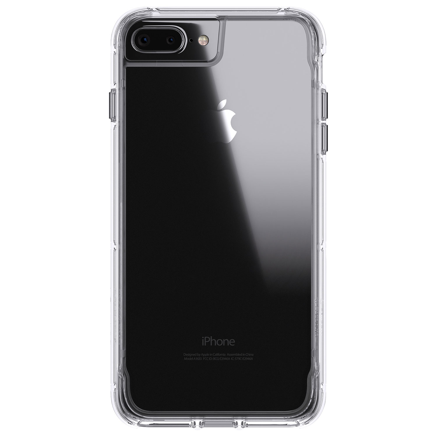 iphone 6, 7, \u0026 8 plus cases best buy canadagriffin survivor clear fitted hard shell case for iphone 8 plus 7 plus 6 plus 6s plus clear