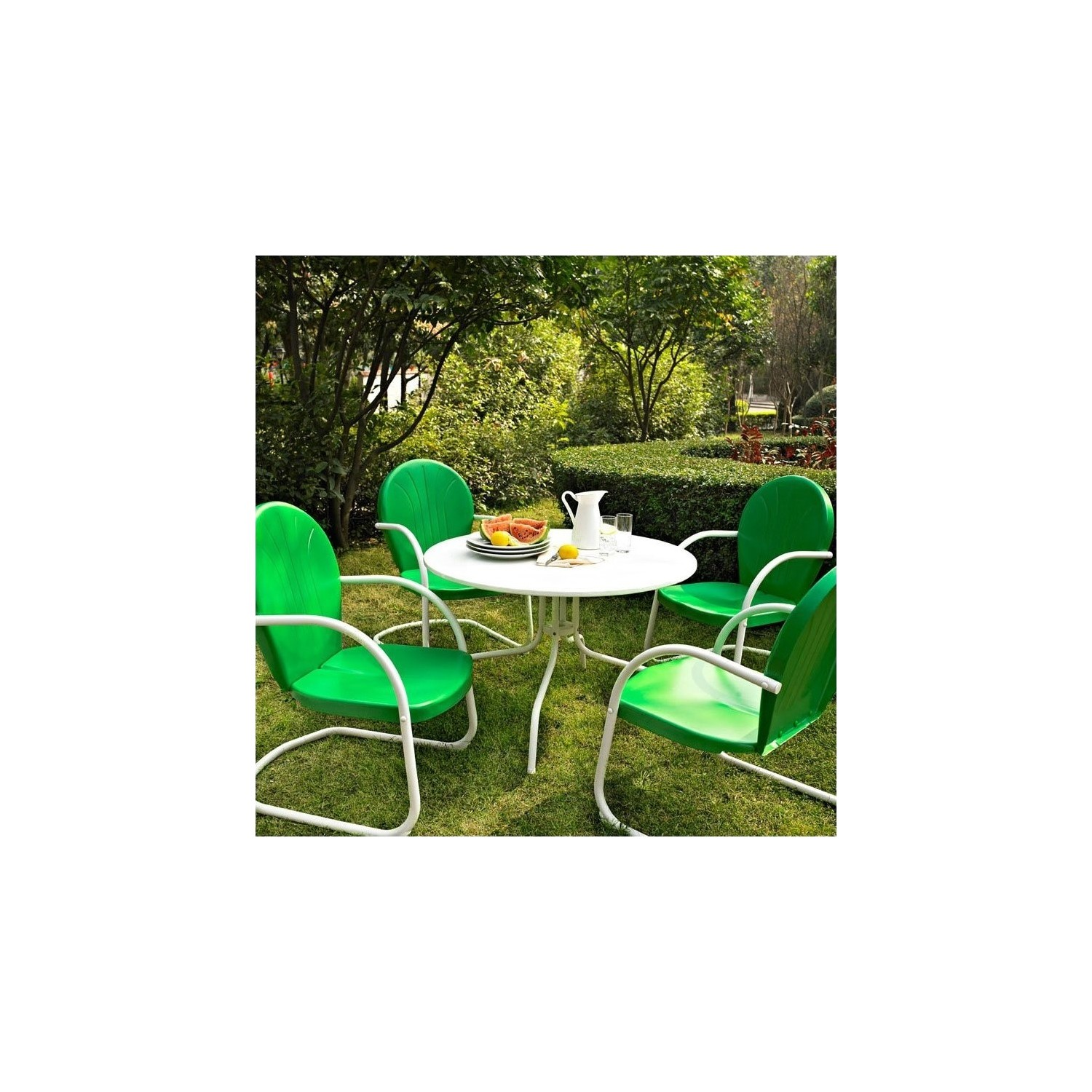 Griffith contemporary 5 piece casual dining patio set online only