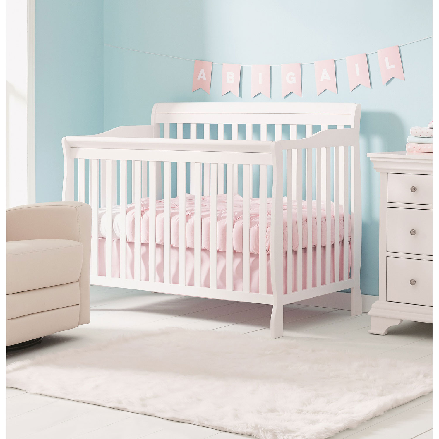 Concord Baby Dover 4 In 1 Convertible Crib White Best Buy Canada