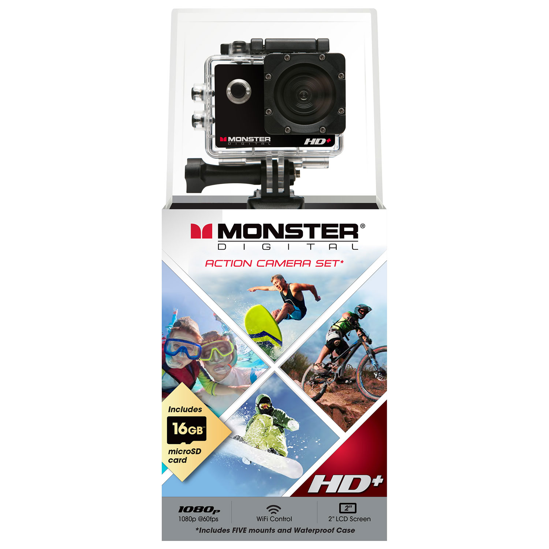 Monster Digital Waterproof Hd Sports Helmet Camera Wearable Sportcam Non Wifi Action Cam Gopro Cameras Best Buy Canada