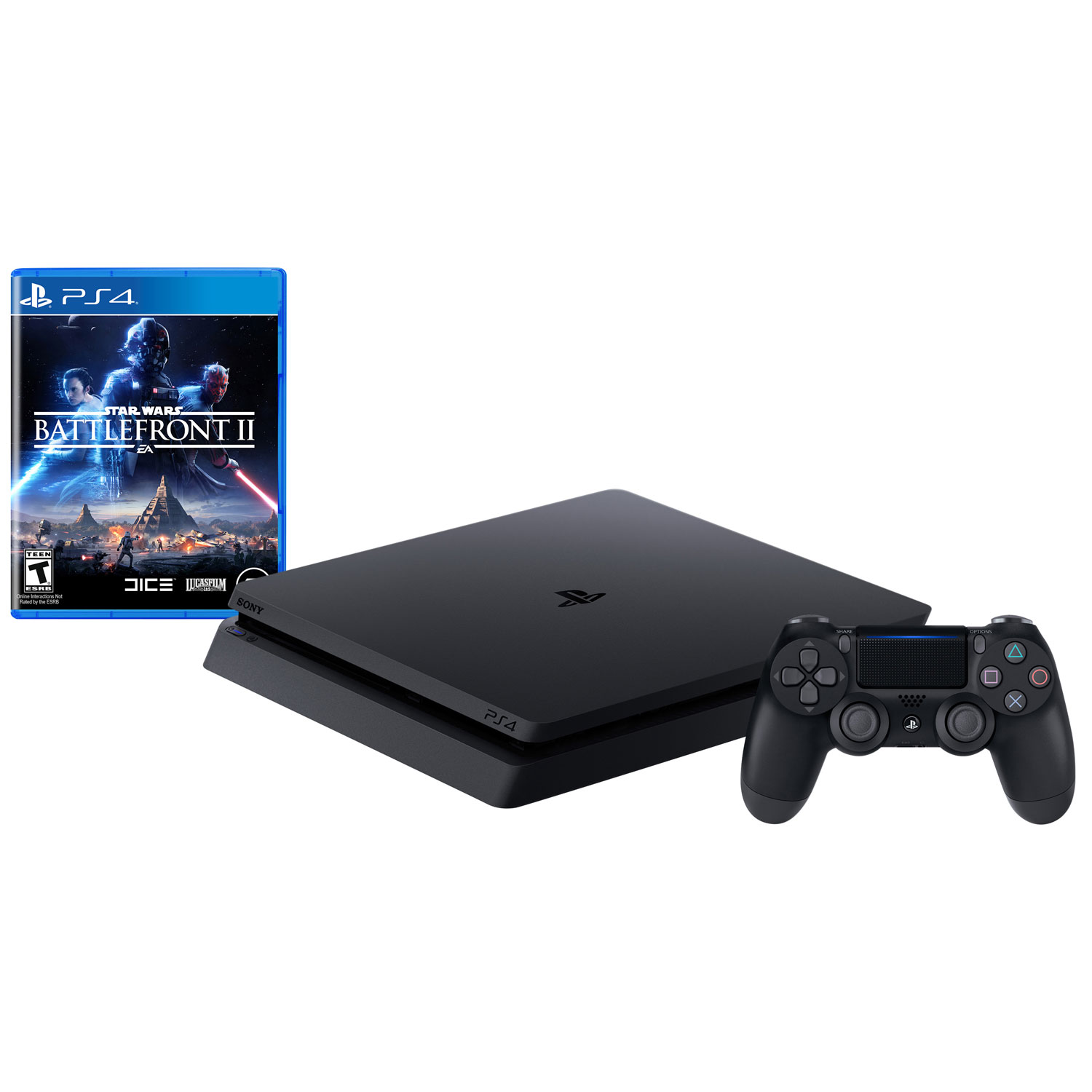 sony ps4 console. playstation 4 slim 1tb star wars battlefront ii bundle - jet black sony ps4 console s