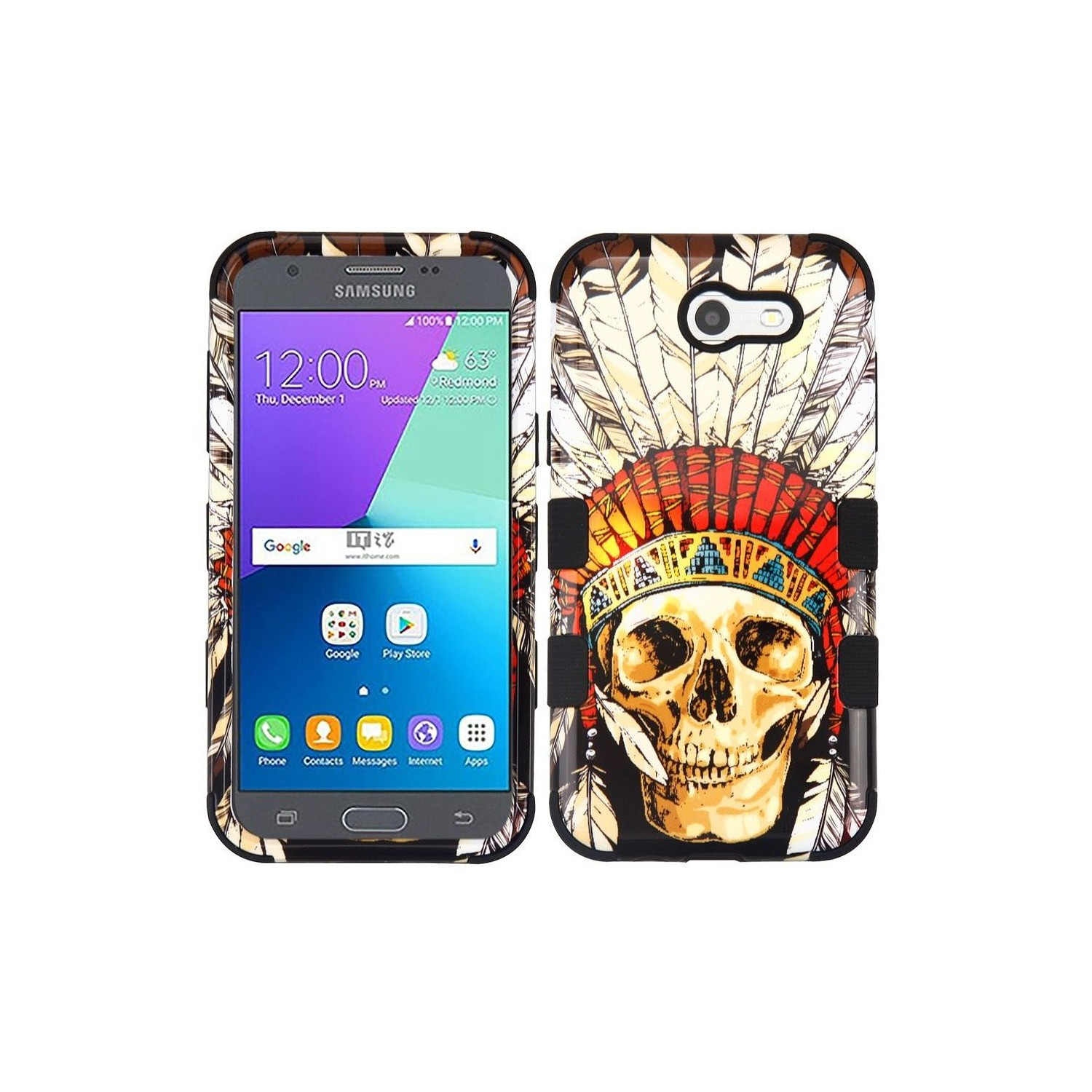 Insten Dead Skull Hard Case For Samsung Galaxy Amp Prime 2 Express Prime 2 J3 2017 Multi Color Other Samsung Cases Best Buy Canada