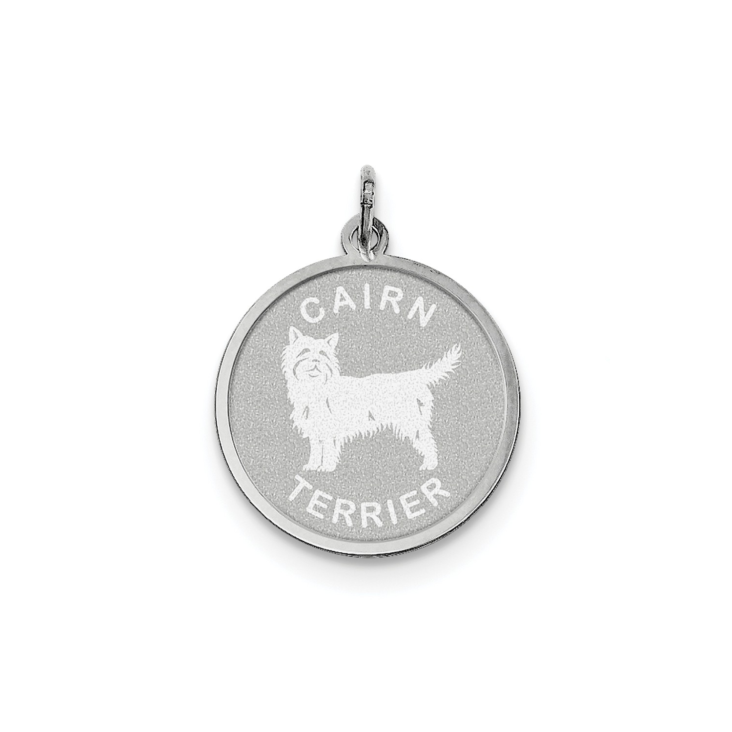 2c78736dd275d IceCarats 925 Sterling Silver Cairn Terrier Pendant Charm Necklace Animal  Dog Engravable Disc Round - Online Only