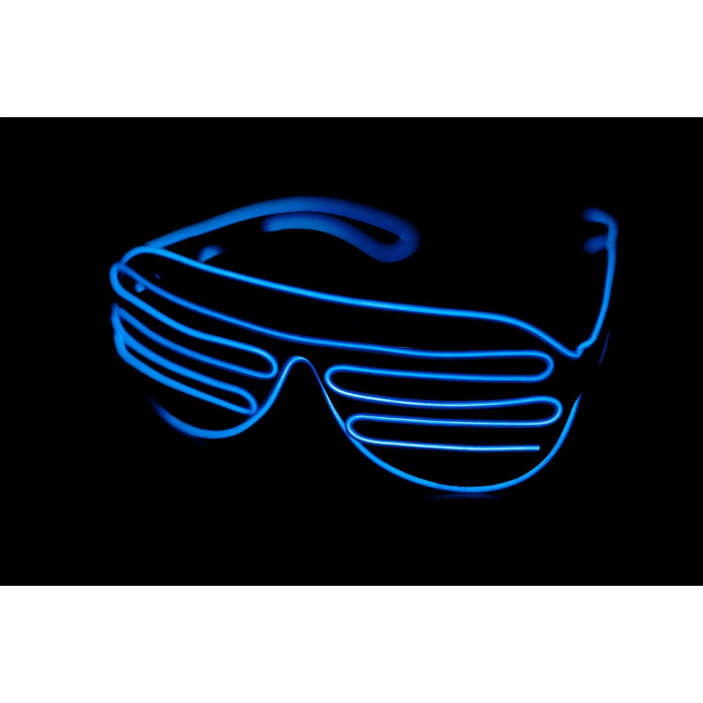 c3309c7cca Summitlink Black Frame Blue Neon El Wire Led Light Up Shutter Glasses  Standard Controller - Online Only