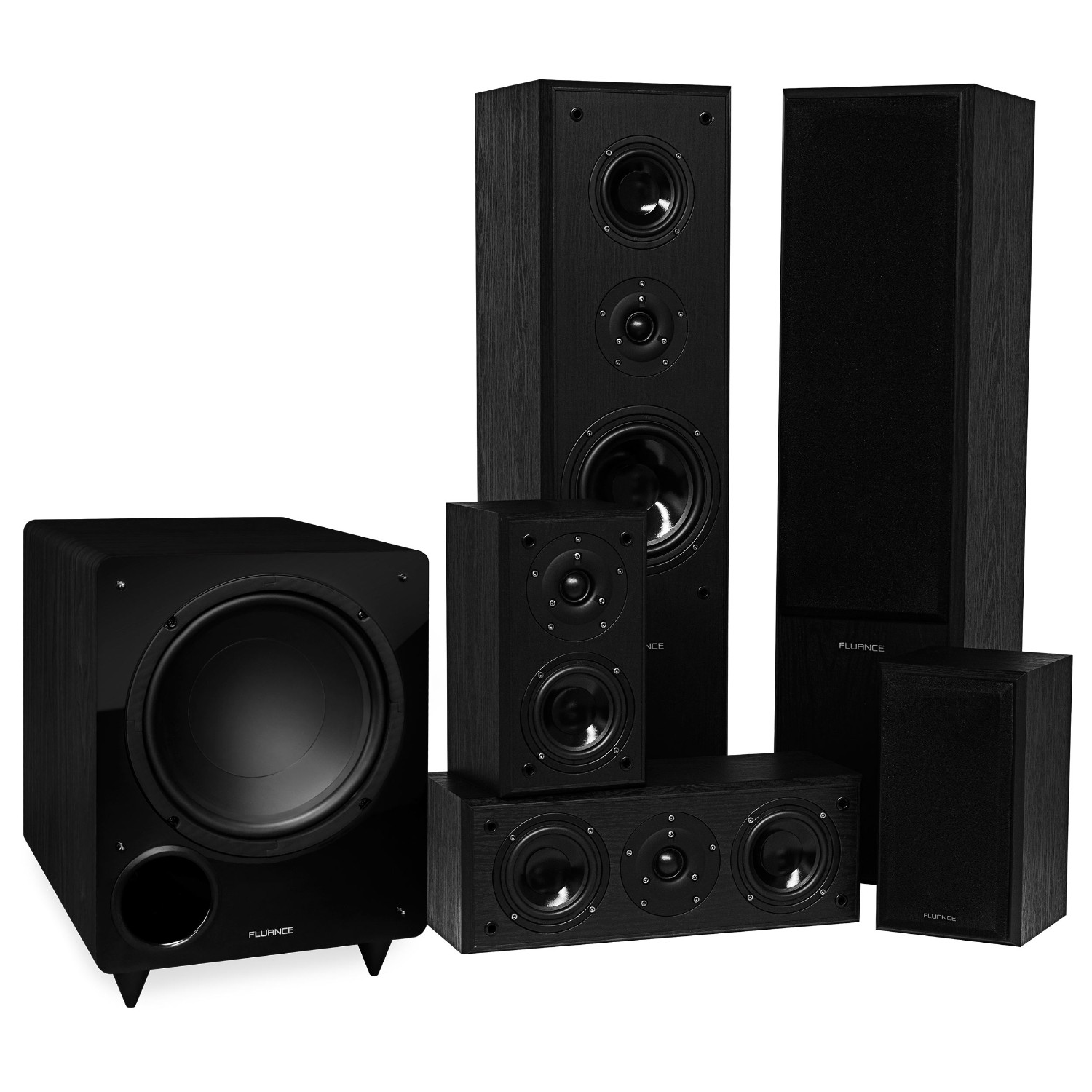 Fluance Classic Series Surround Sound Home Theater 51 Channel Hp In Ear H2310 Navy Blue Headset Speaker System Black Ash Av51br Packages Best Buy Canada