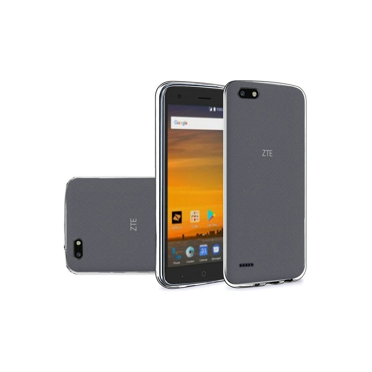 buy popular 1f8c0 49d32 Insten Gel Clear Cover Case For ZTE Blade Force - Smoke