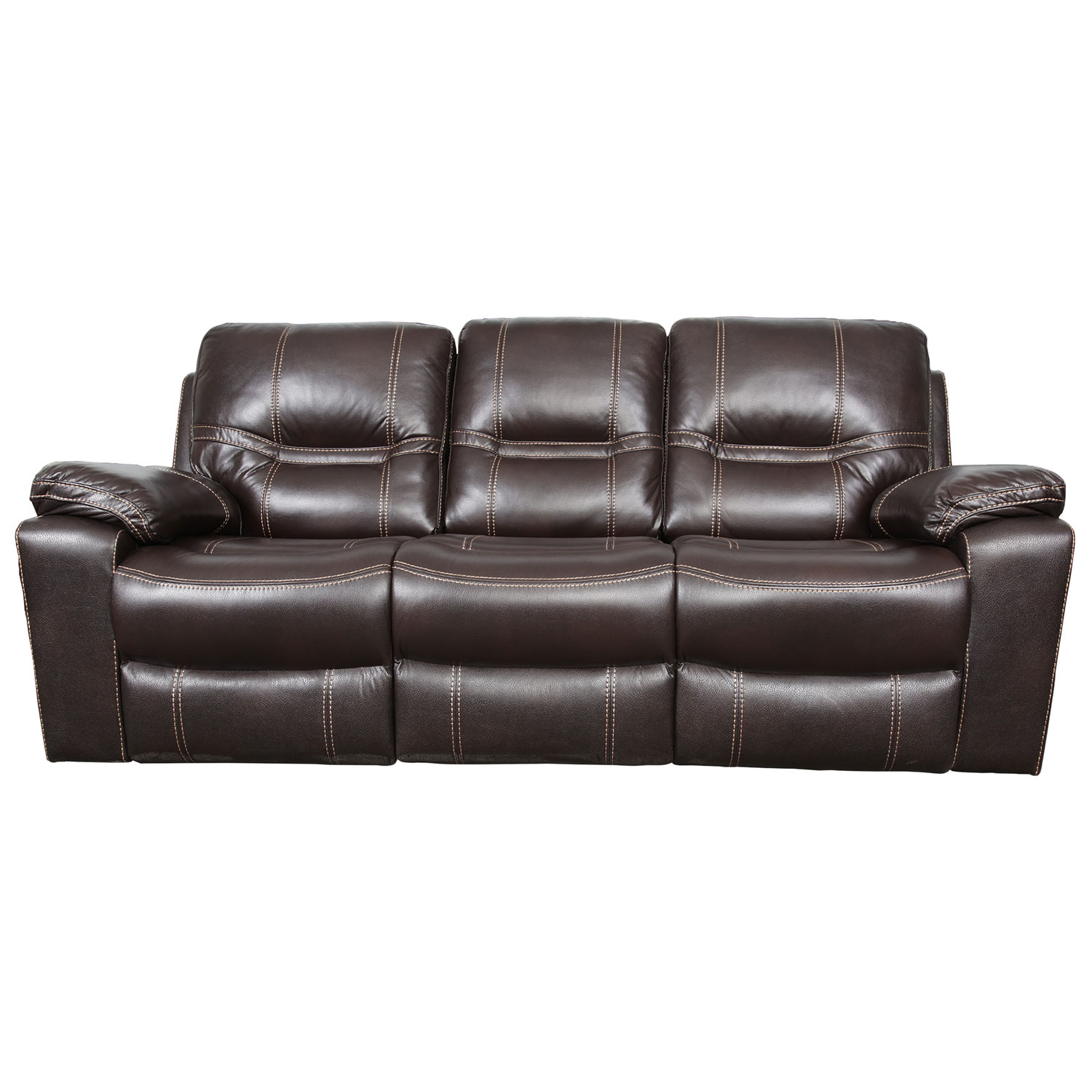 Leather Sofas Canada: William Traditional Bonded Leather Reclining Sofa