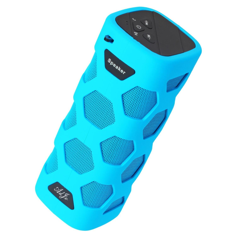AdJo Blue Waterproof Bluetooth Speaker Super Bass NFC Function Power ...
