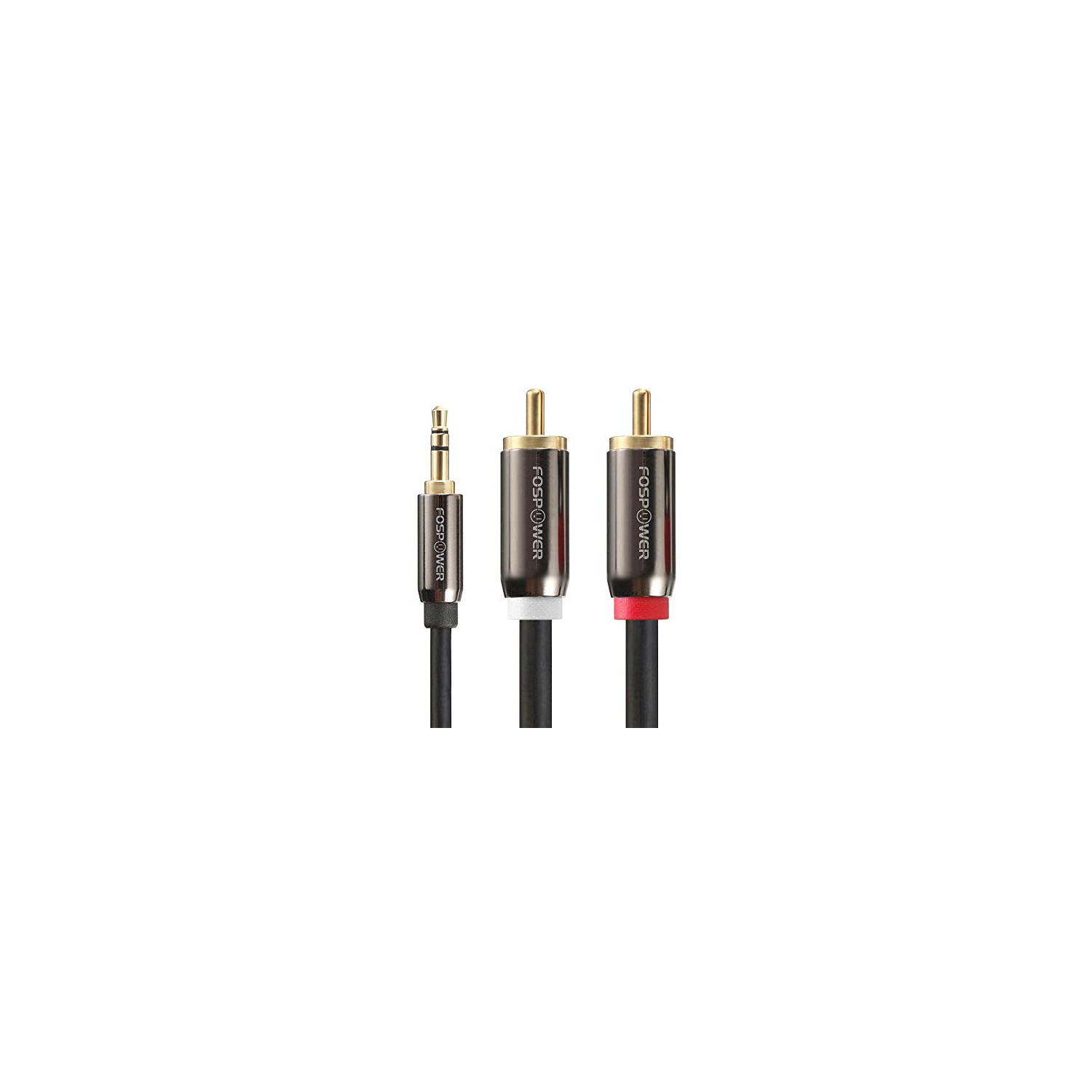 fospower 3.5  FosPower 3.5mm to RCA Audio Cable (0.9M) Male to Male Aux Audio ...