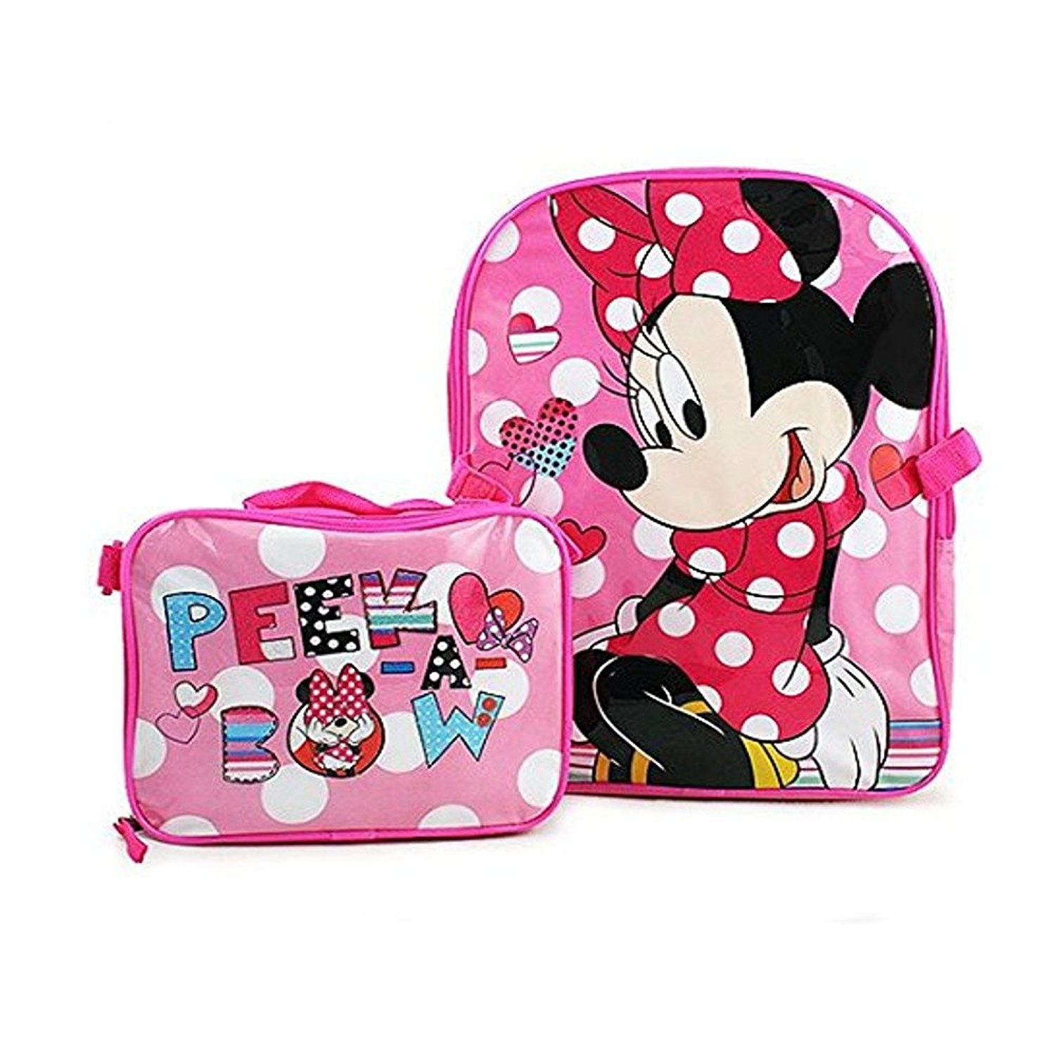 b27cb2984c6 Disney Minnie Mouse Backpack and Lunch Bag Set 15 Inch   Backpacks ...