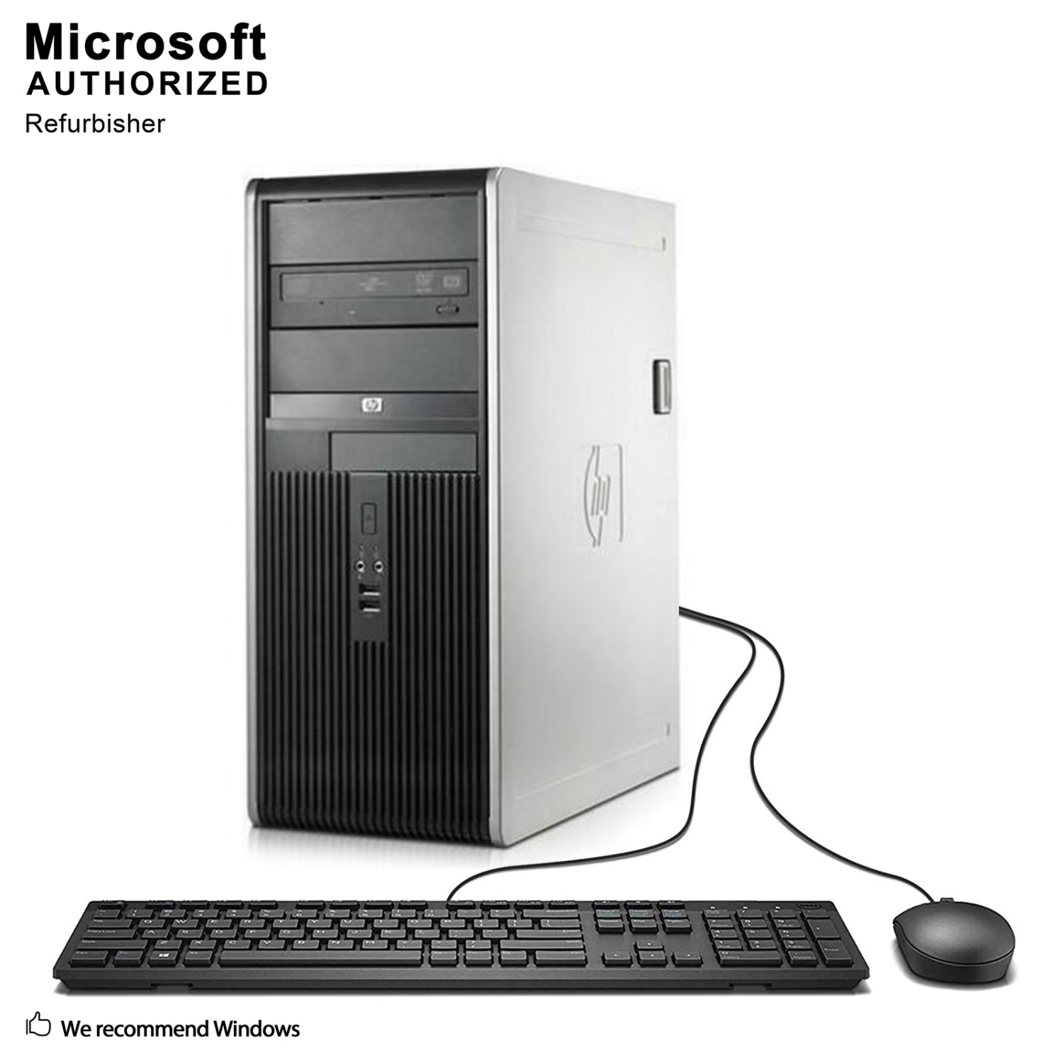 Hp Dc7900 Tw Intel Core 2 Duo E7500 293ghz 4g Ddr2 Ram 500g Hdd Prosesor C2d Dvd Rom Wifi Win10 Home English French Refurbished Everyday Computing Best Buy