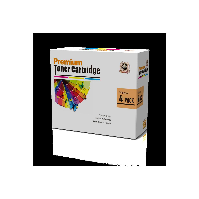 Vpdepot 4pk Cb400a Cb401a Cb402a Cb403a 642a Remanufactured Cmyk Hp Color Laserjet Cp4005 Cyan Cartridge Toner Set For Best Buy Canada