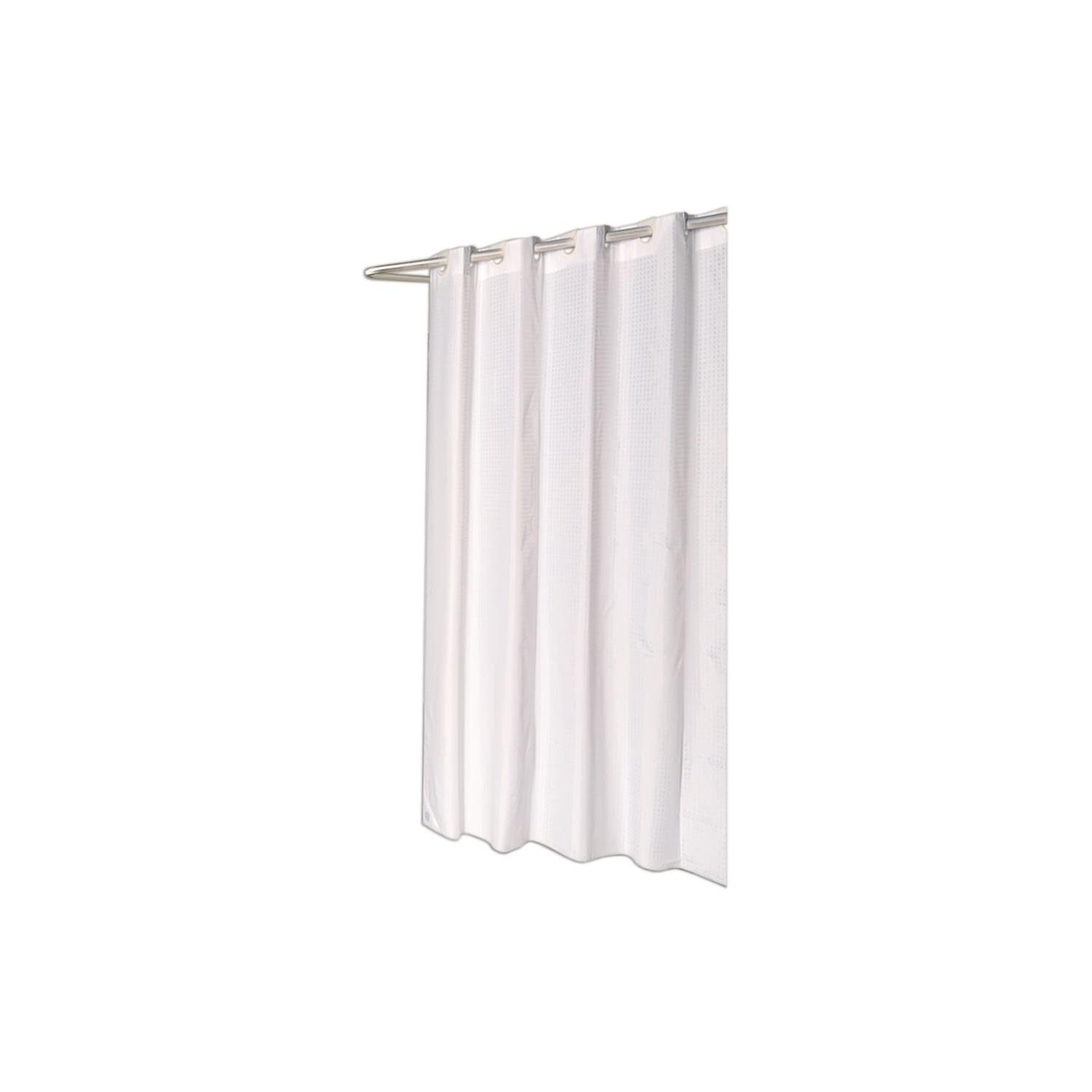 Carnation Home Fashions Checks Pattern Ez On Fabric Shower Curtain