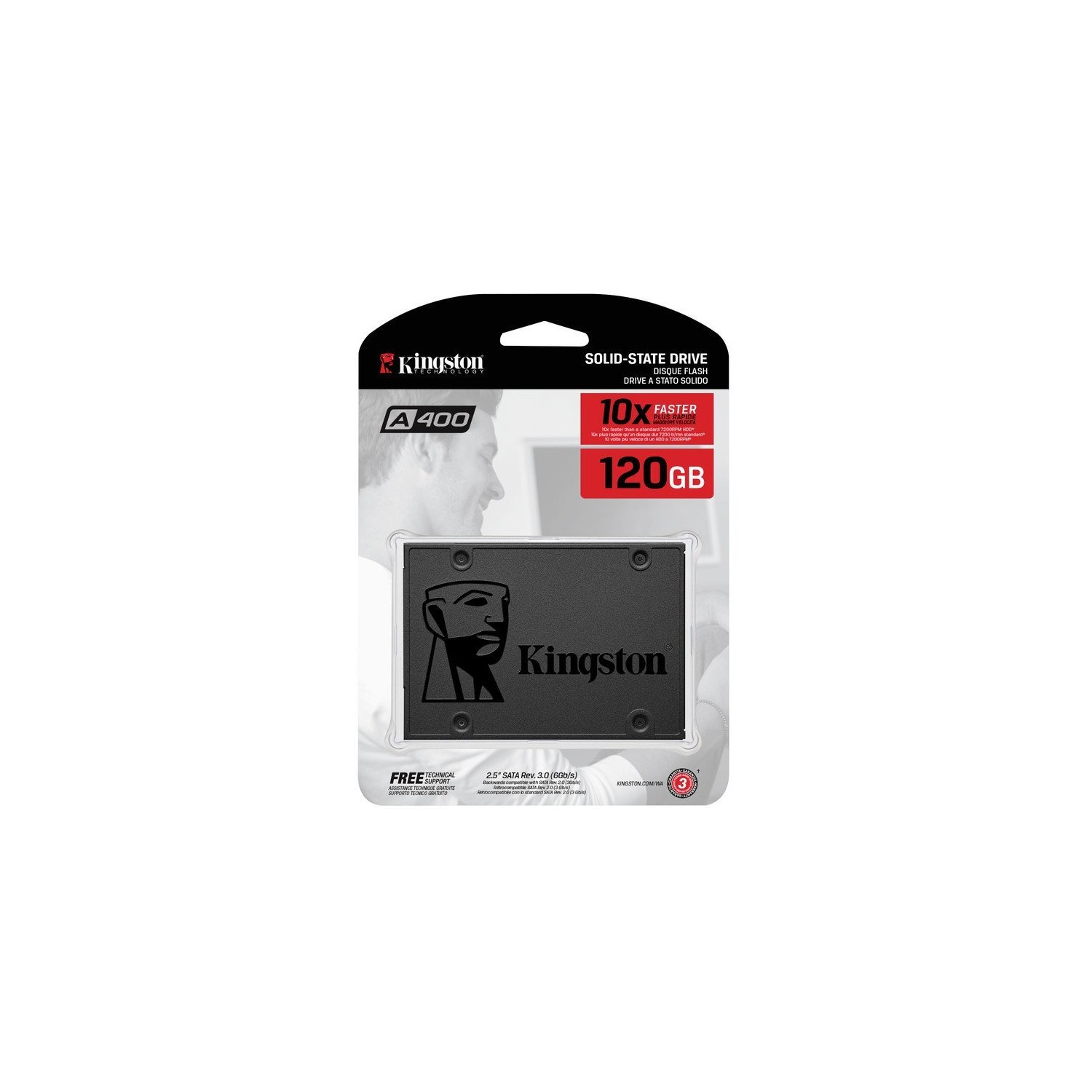 Kingston A400 Ssd 120gb Sata 3 25 Internal Solid State Drive Iii Sa400s37 120g Increased Performance 500mb S Best Buy Canada