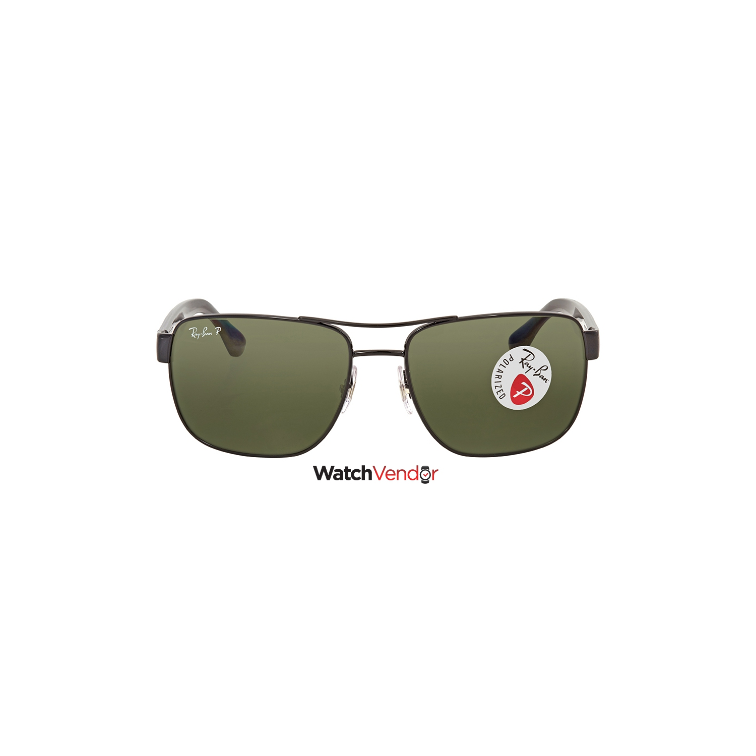 4ec1d43ba10f9 Ray Ban Polarized Green Classic G-15 Square Men s Sunglasses RB3530 002 9A  58 - Online Only
